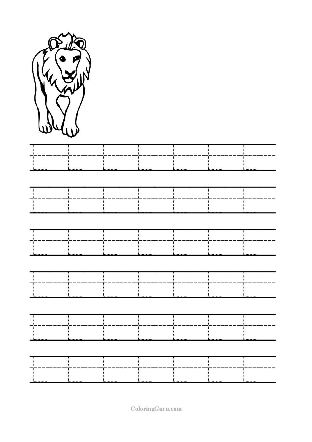 free printable tracing letter l worksheets for preschool inside letter l worksheets free