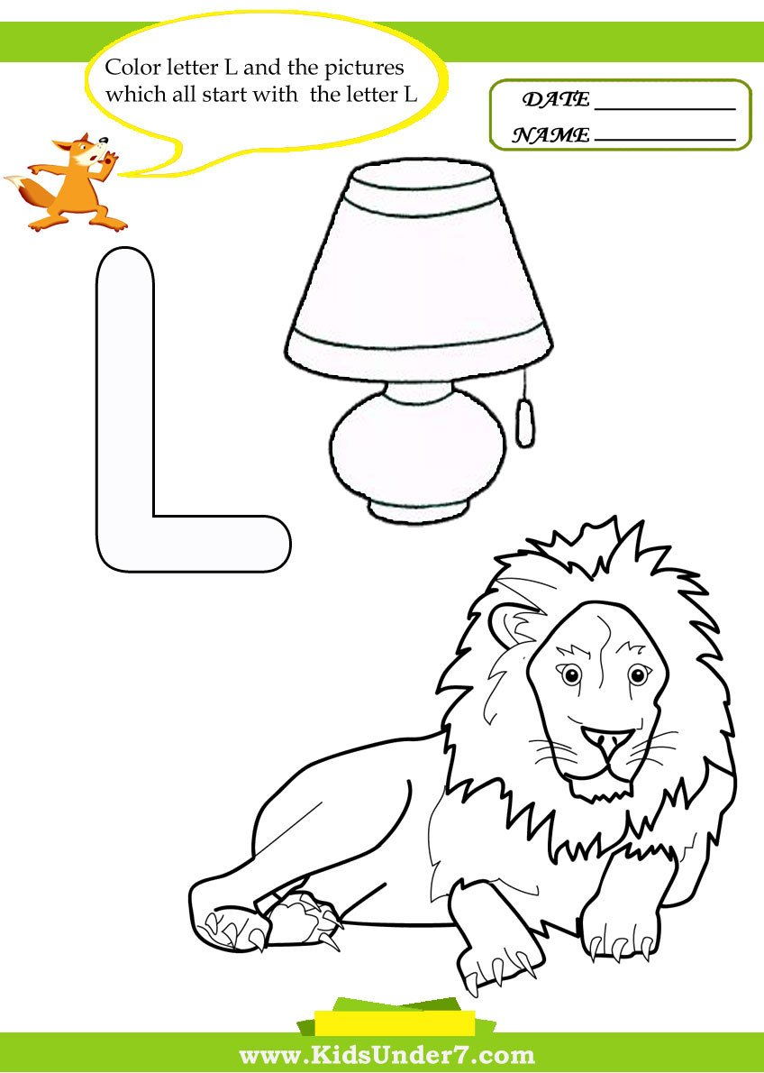 Letter L Worksheet Preschool Kids Under 7 Letter L Worksheets and Coloring Pages
