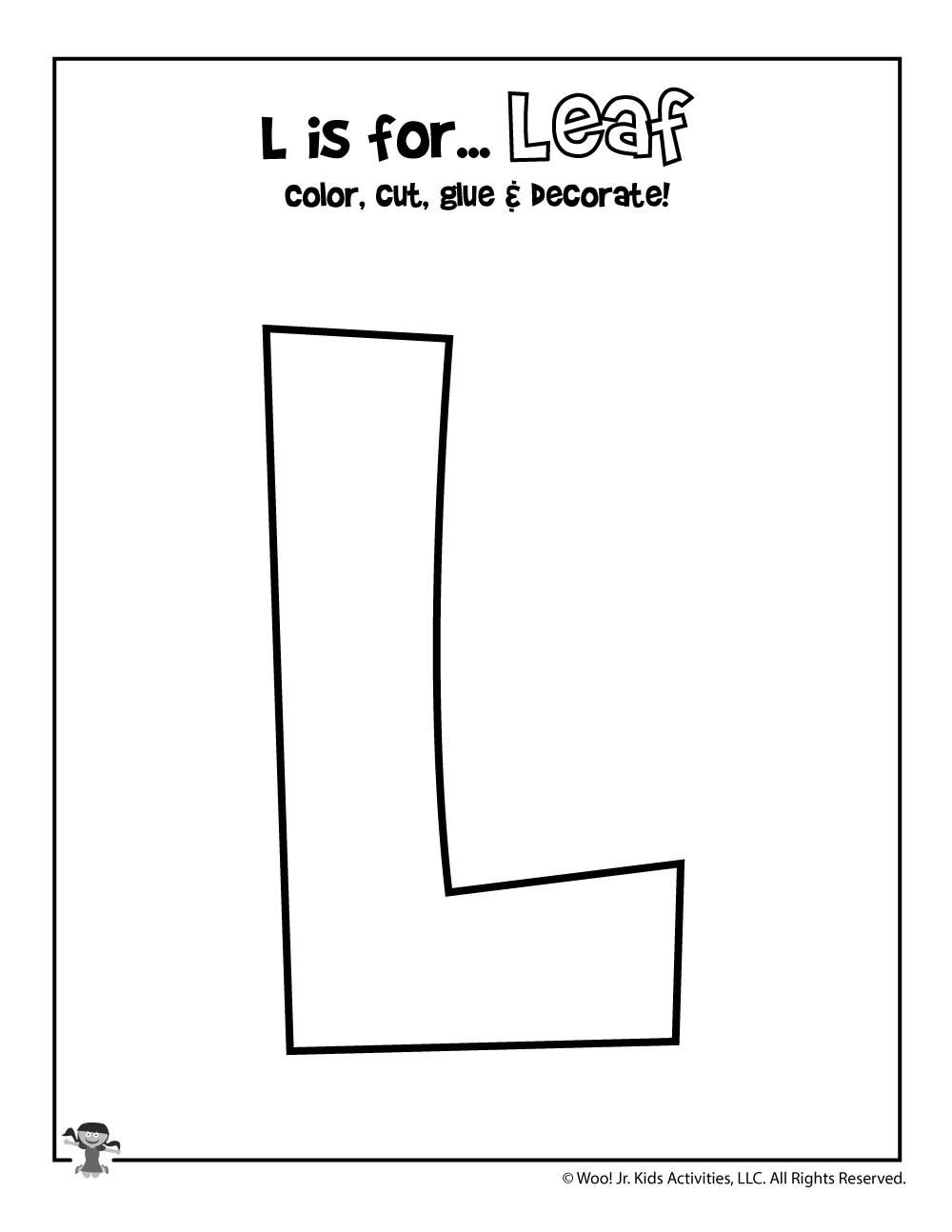 Letter L Worksheet Preschool Printable Letter L Craft