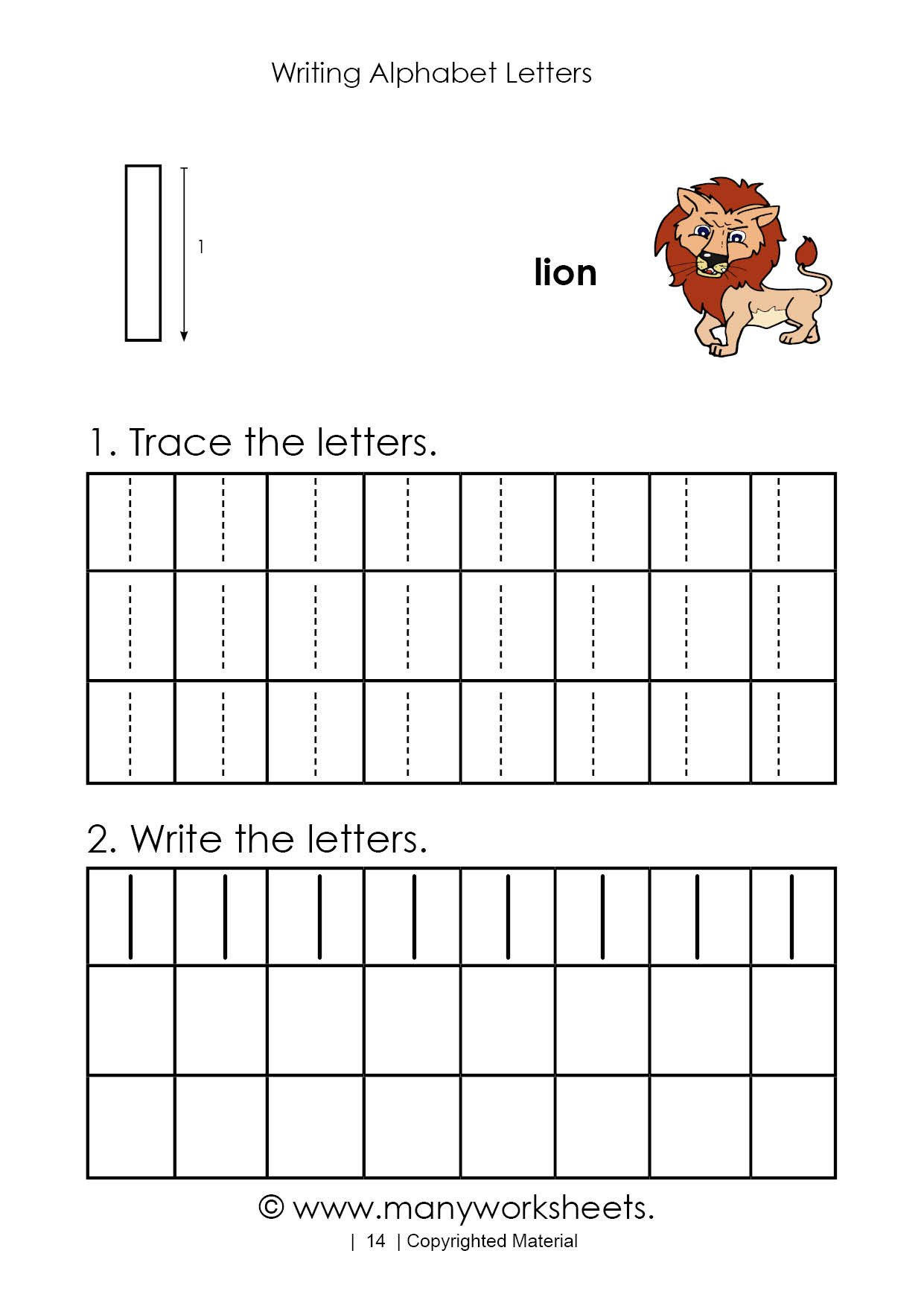 Letter L Worksheet Preschool Tracing Letter L Worksheet for Kindergarten