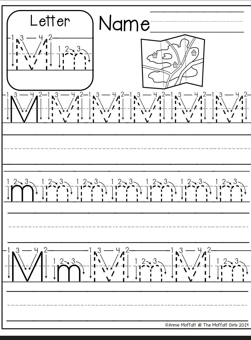 Letter M Worksheets for Preschoolers Letter M Worksheet