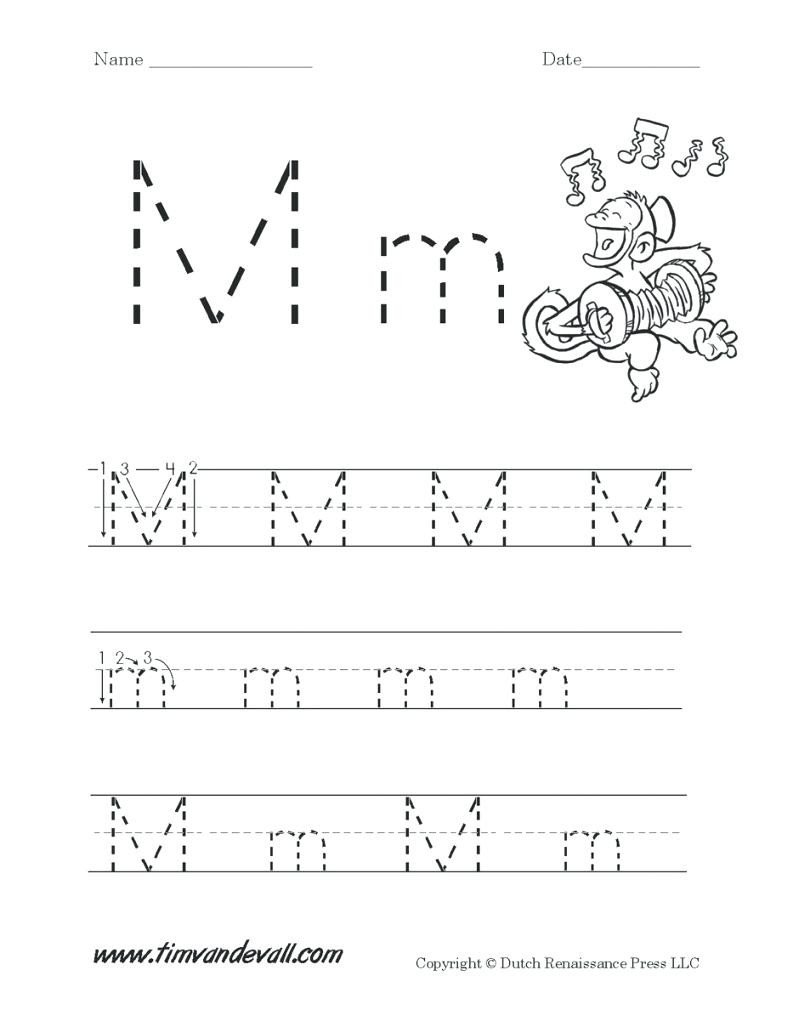 letter m worksheets for free 1