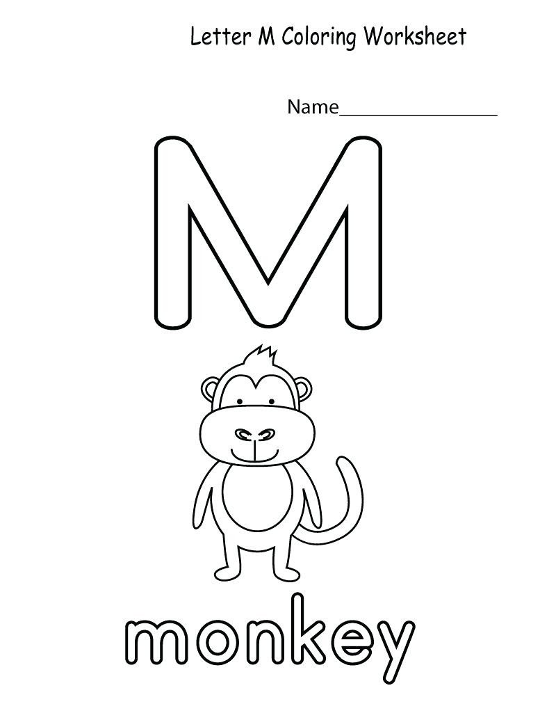 letter m worksheets to 1
