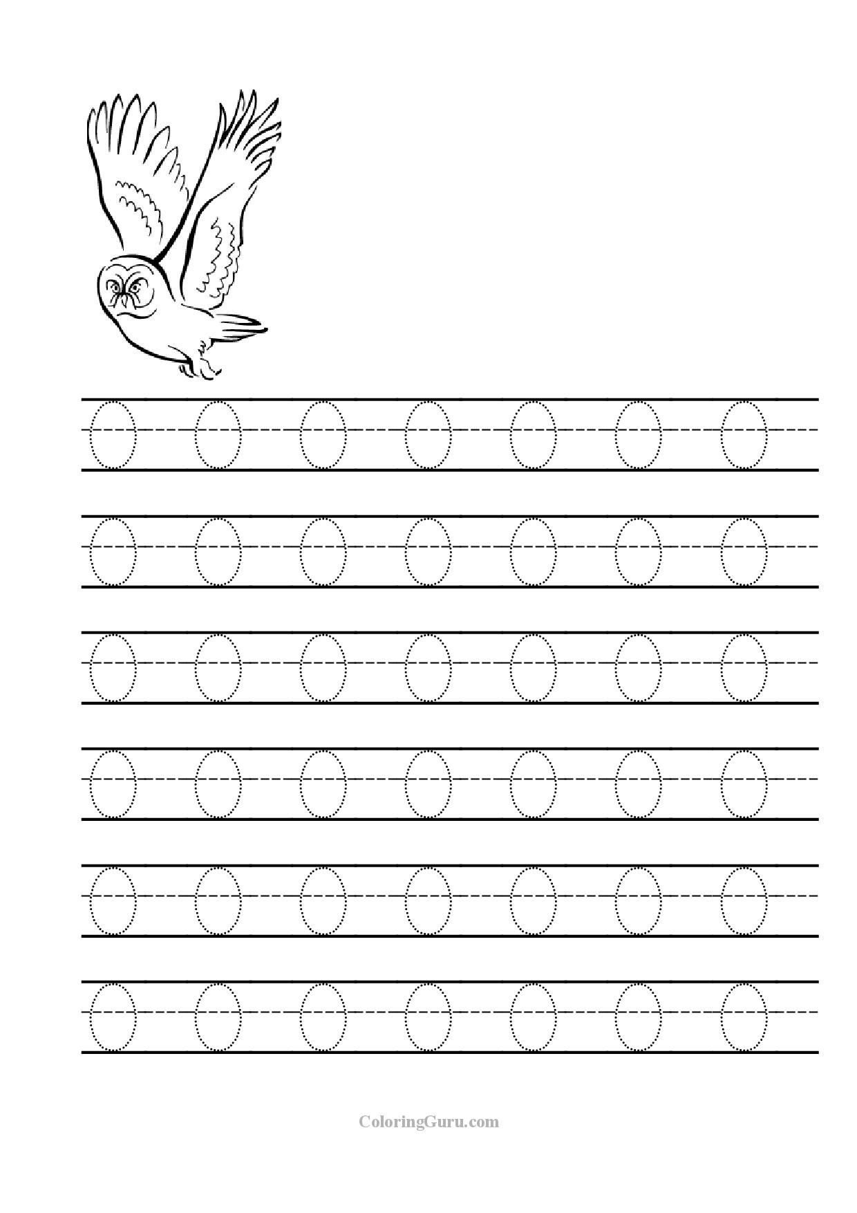 Letter O Worksheet for Kindergarten Free Printable Tracing Letter O Worksheets for Preschool