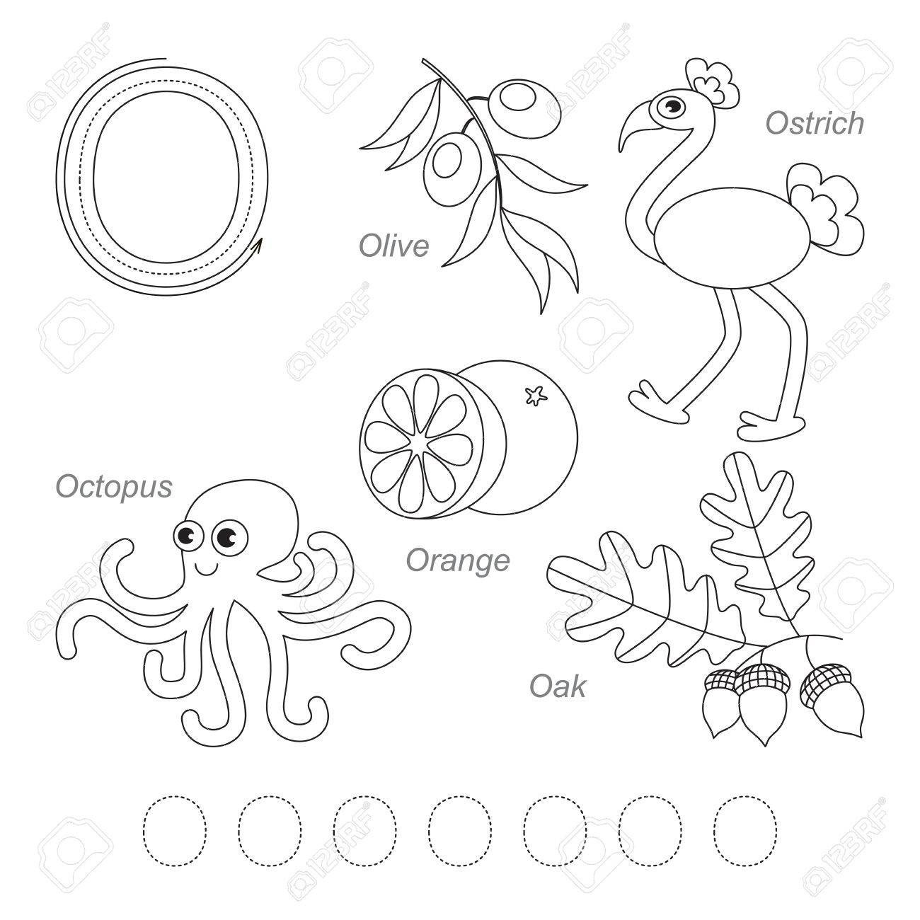 tracing worksheet for children full english alphabet from to z pictures letter o the colorless worksheets