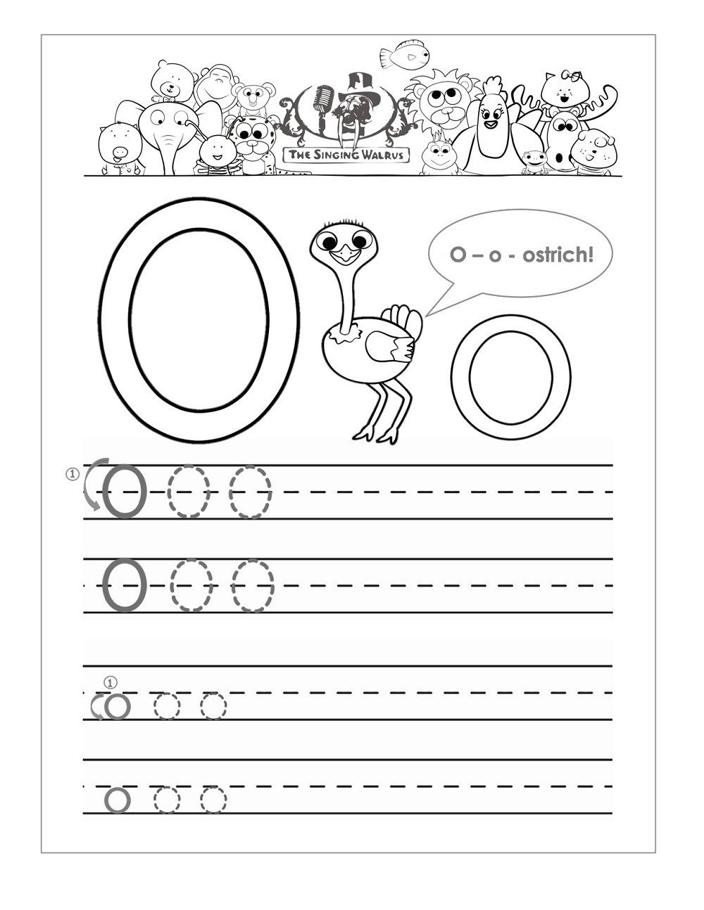 the letter oorksheets for kindergarten object begin free printable