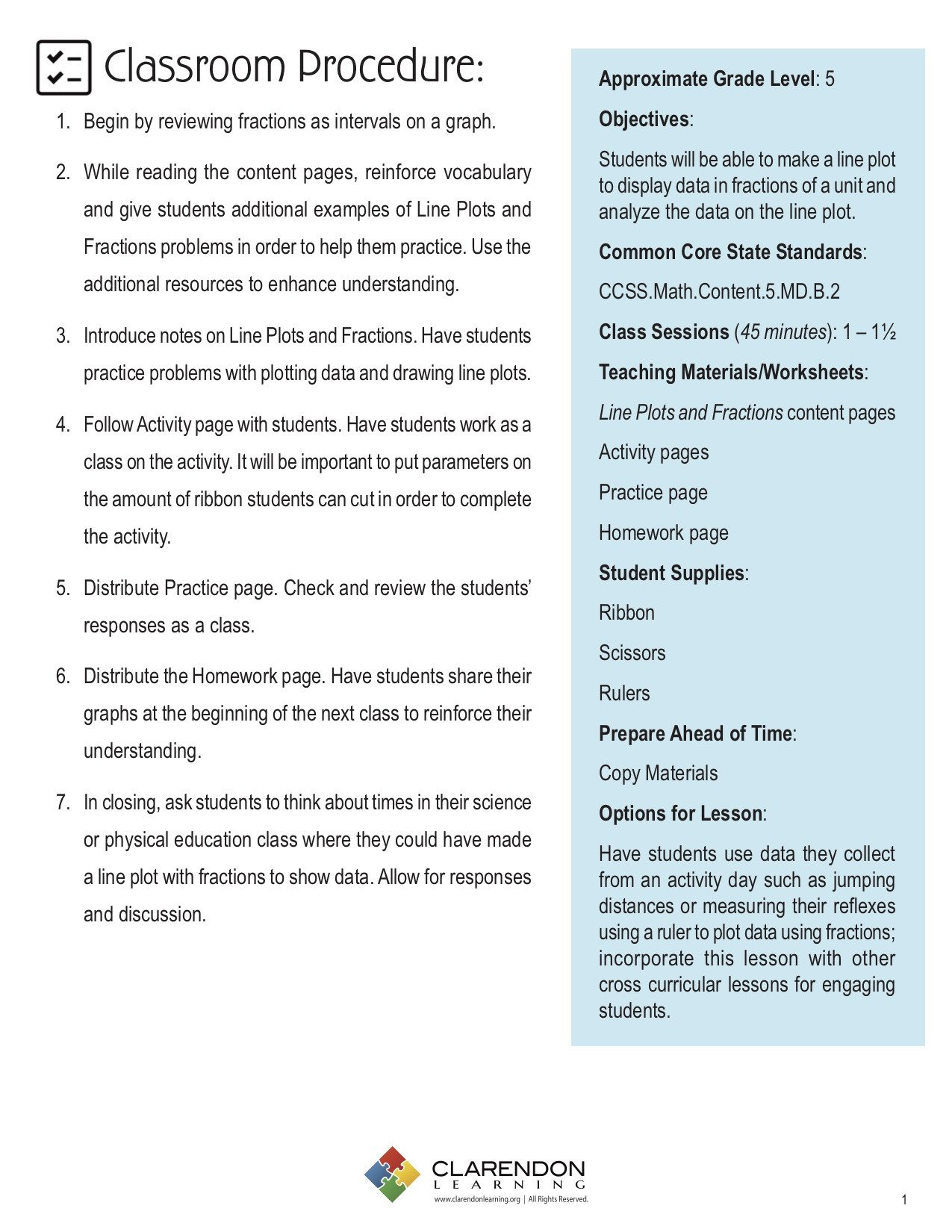 Line Plot Worksheet 5th Grade Line Plots and Fractions