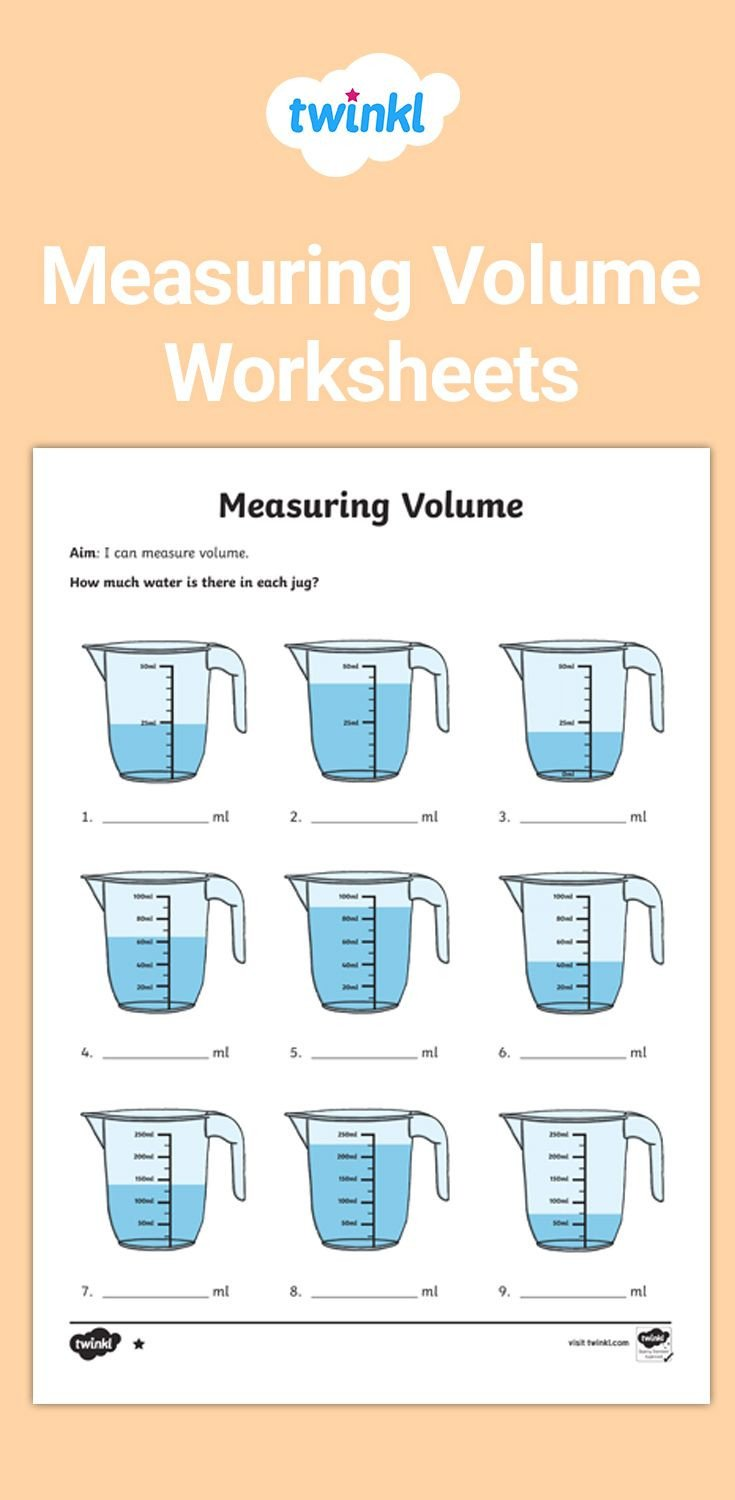 Liquid Volume Worksheets Measuring Volume Worksheets