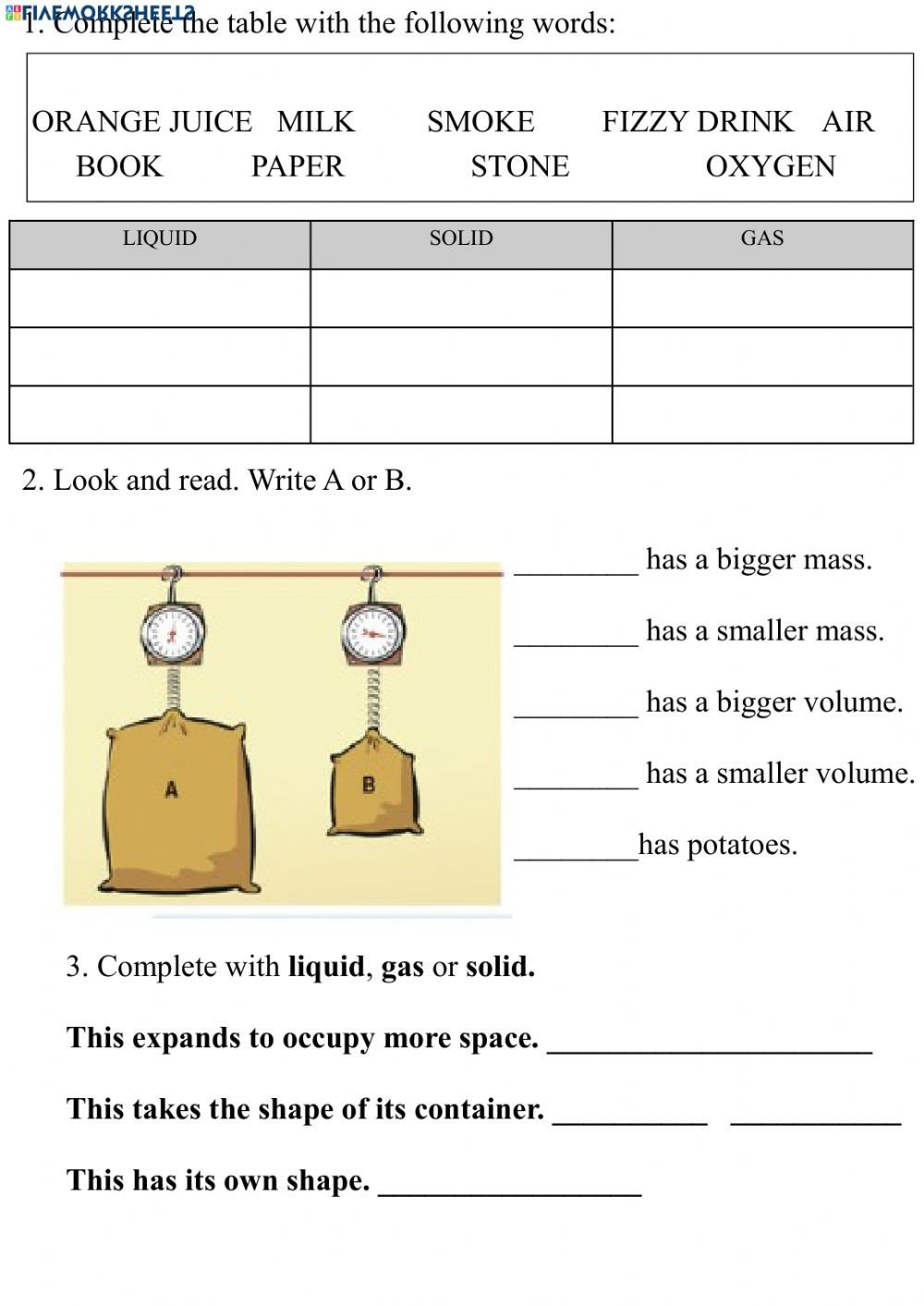 Liquid Volume Worksheets Volume and Mass States Of Matter Interactive Worksheet