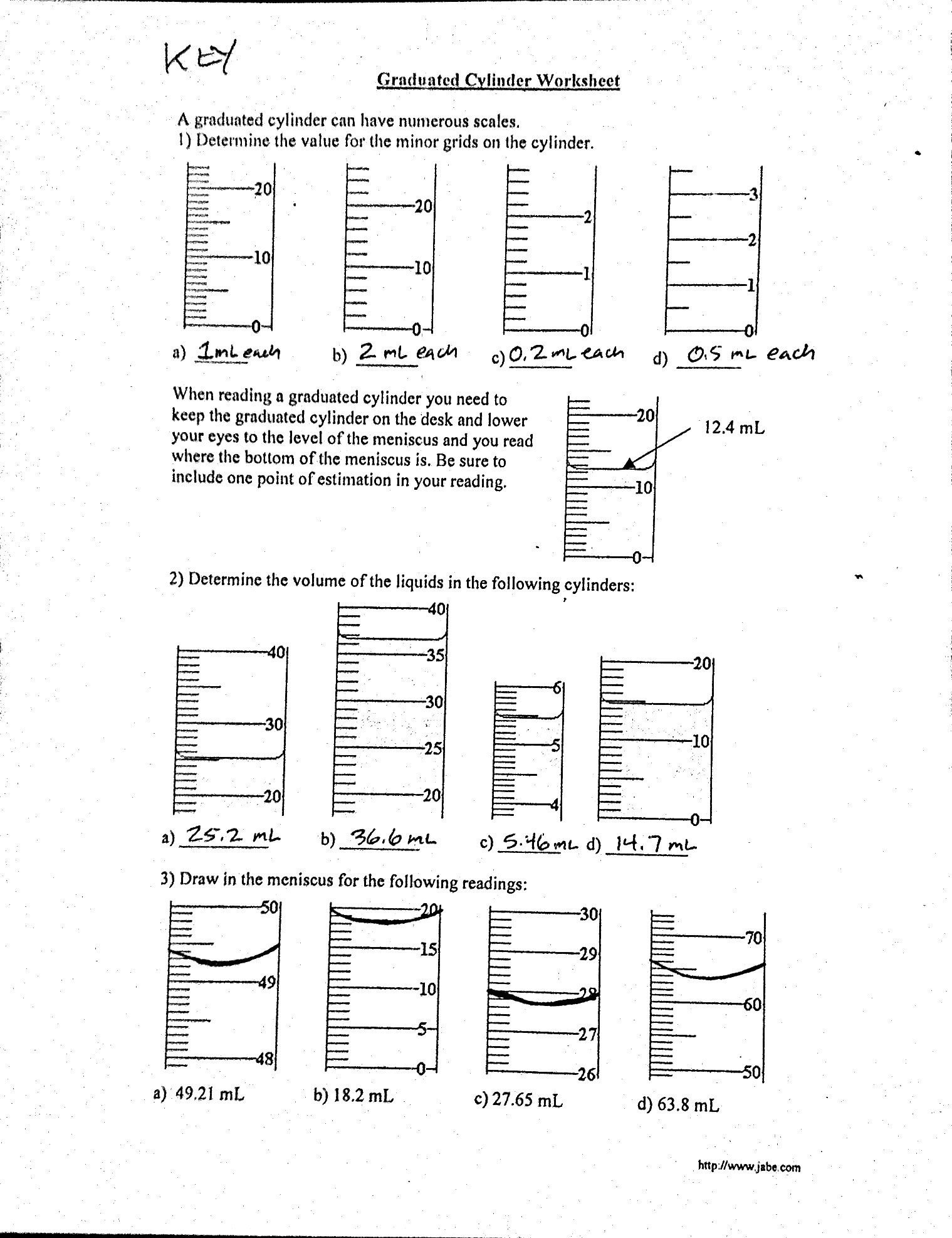 Liquid Volume Worksheets Volume Quiz Worksheet