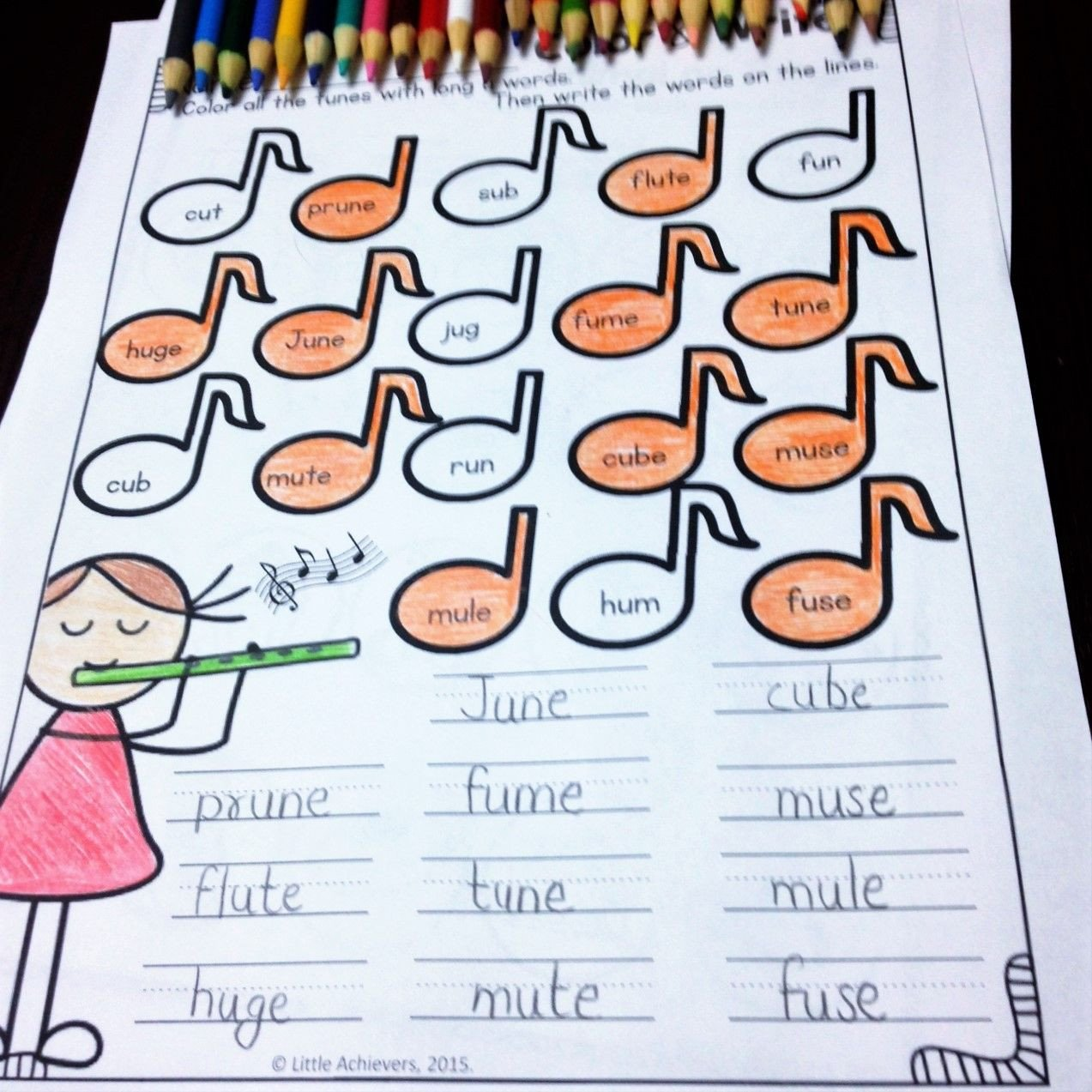 Long Vowel Silent E Worksheet Long Vowel Worksheets and Activities Cvce Words Bundle