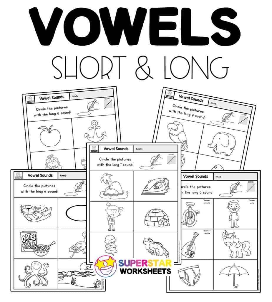 Long Vowel sounds Worksheets Vowel sounds Worksheets Superstar Worksheets