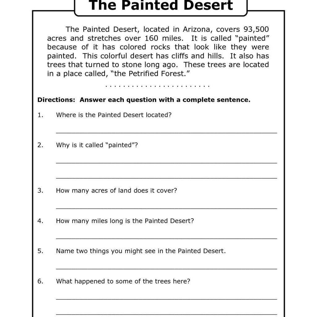 Main Idea Worksheets Third Grade Math Worksheet Third Grade Reading Prehension