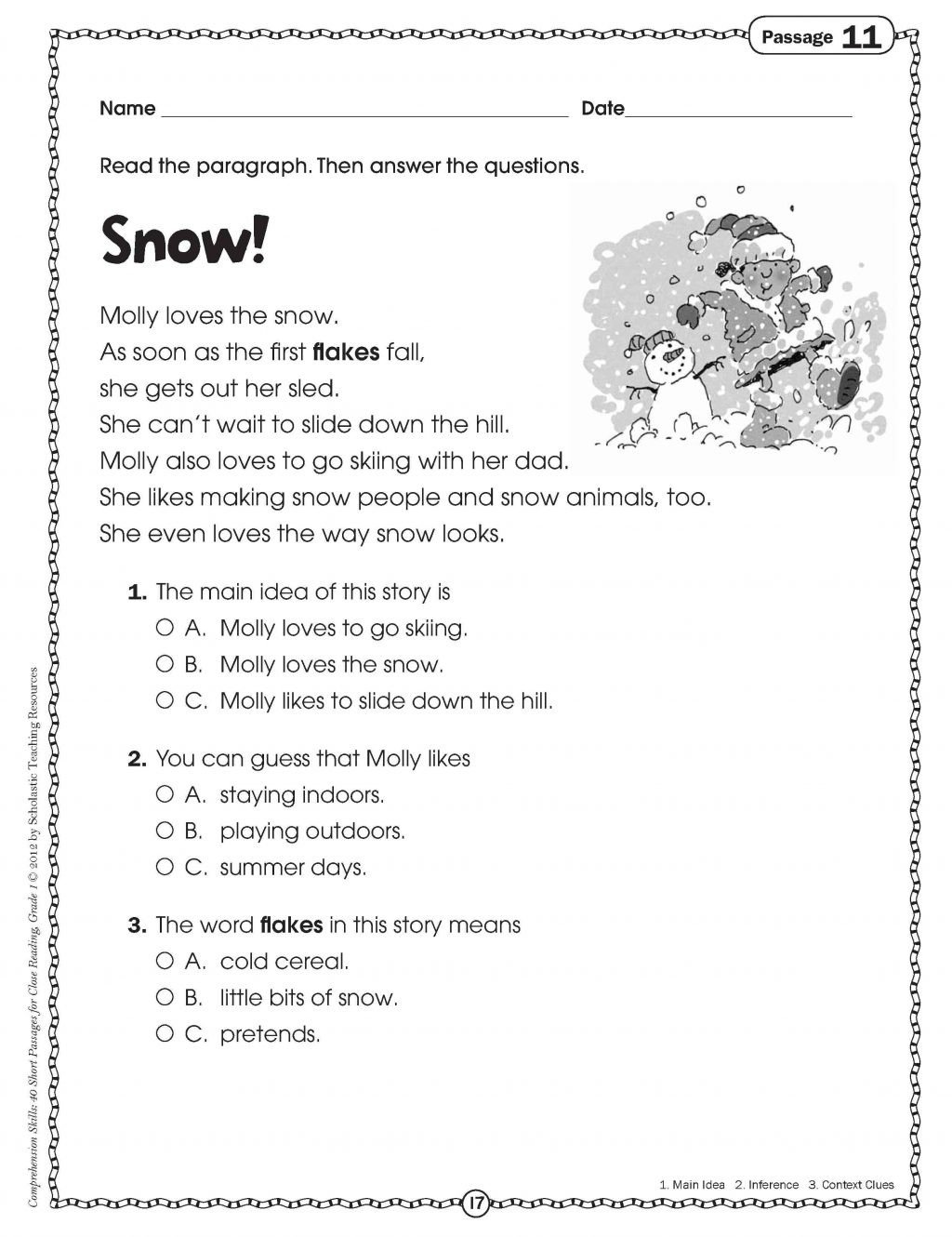 Main Idea Worksheets Third Grade Worksheet Free Printable Third Grade Readingn Worksheets