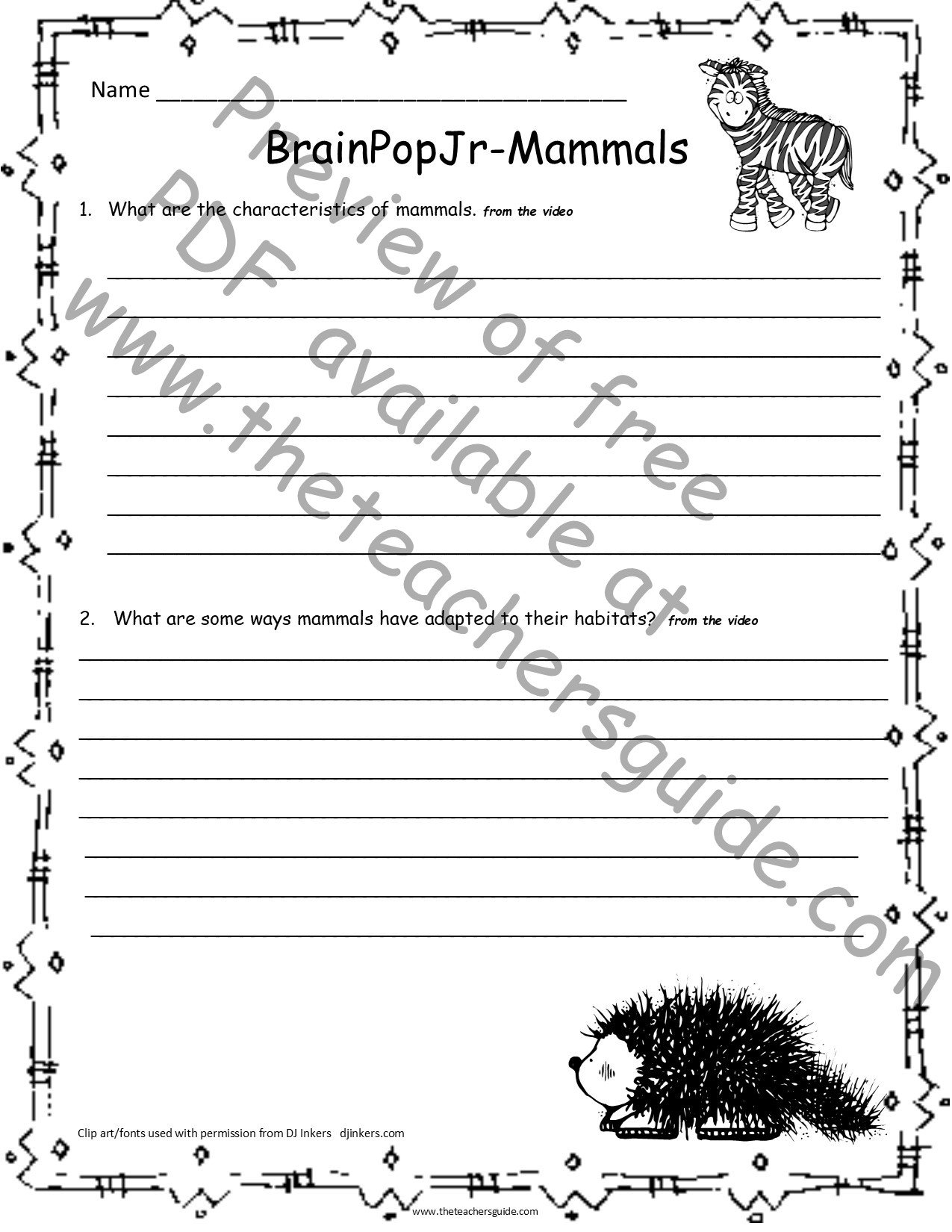 Mammal Worksheets First Grade the Teacher Guide Free Lesson Plans Printouts and Resources