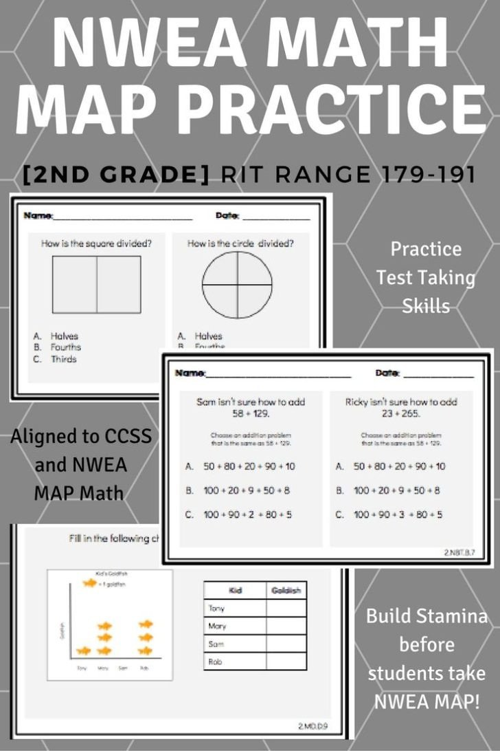 Map Worksheet 2nd Grade Worksheet 2nd Grade Nwea Map Math Practice Questions Rit