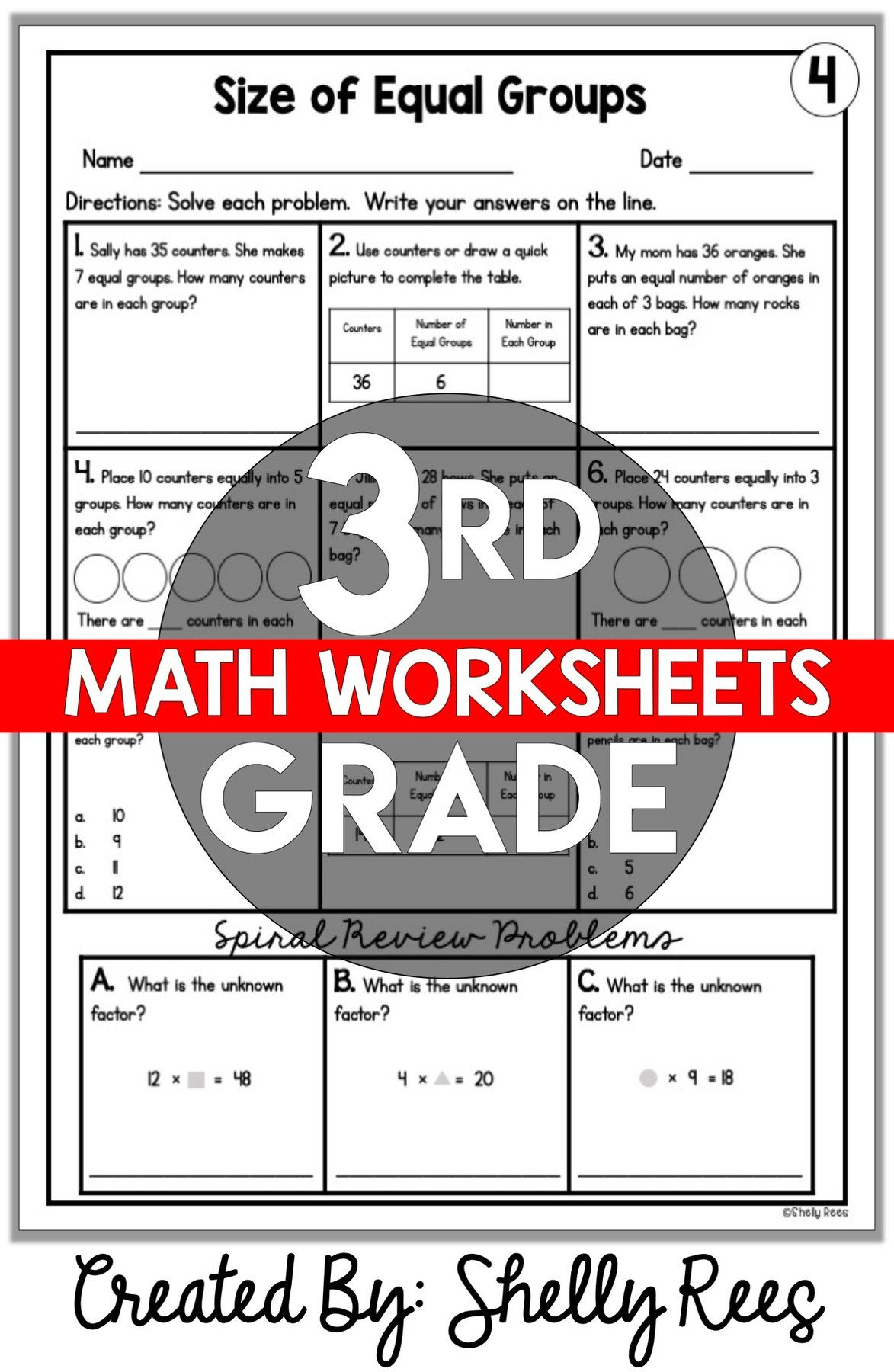 Measurement Worksheet 3rd Grade 3rd Grade Math Worksheets Free and Printable Appletastic
