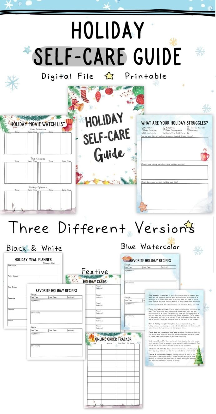 Measurement Worksheet Grade 3 Holiday Self Care Mini Guide Worksheets Stress Calculus