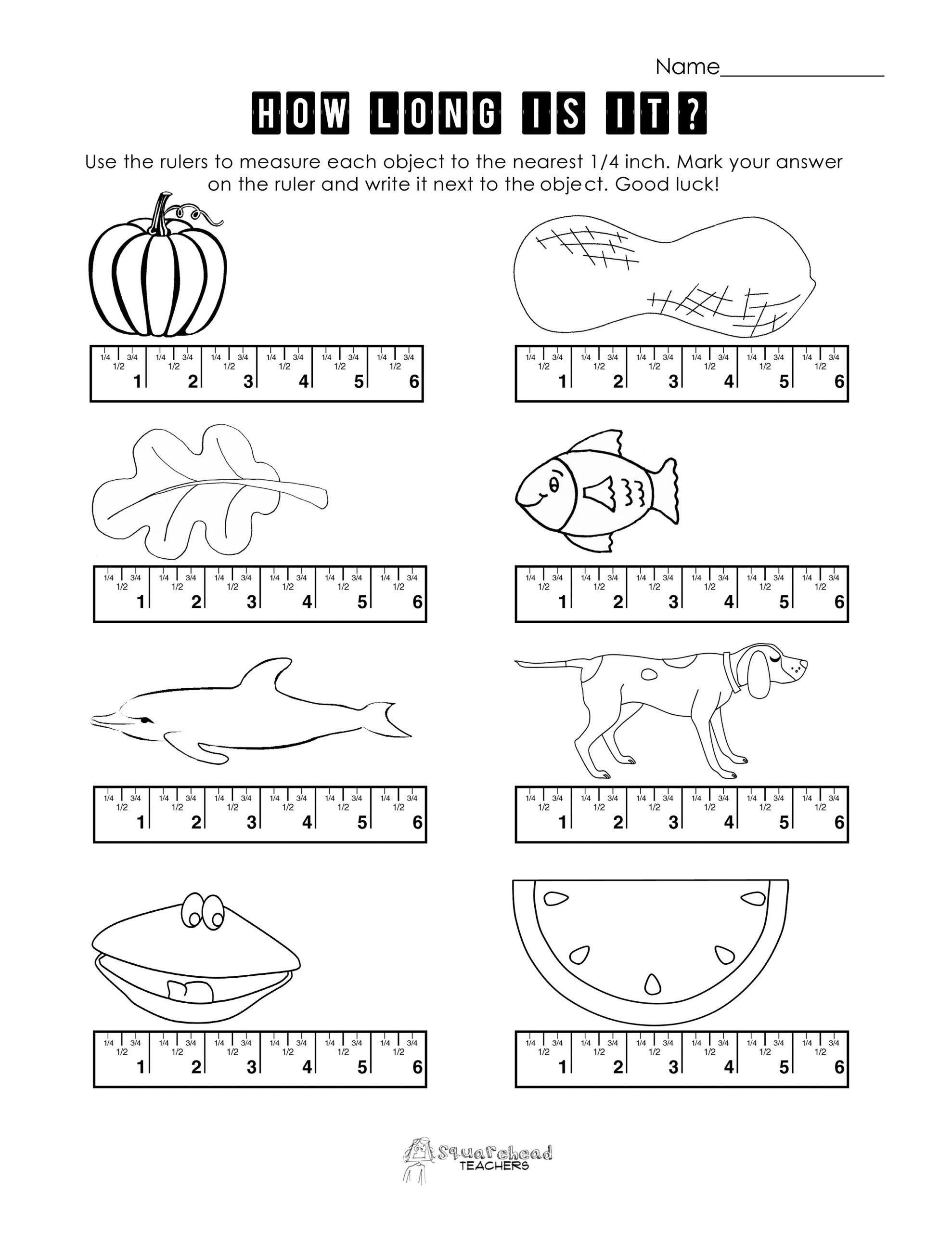 Measuring Worksheets for 2nd Grade Pin On 1st Grade Worksheets & Free Printables