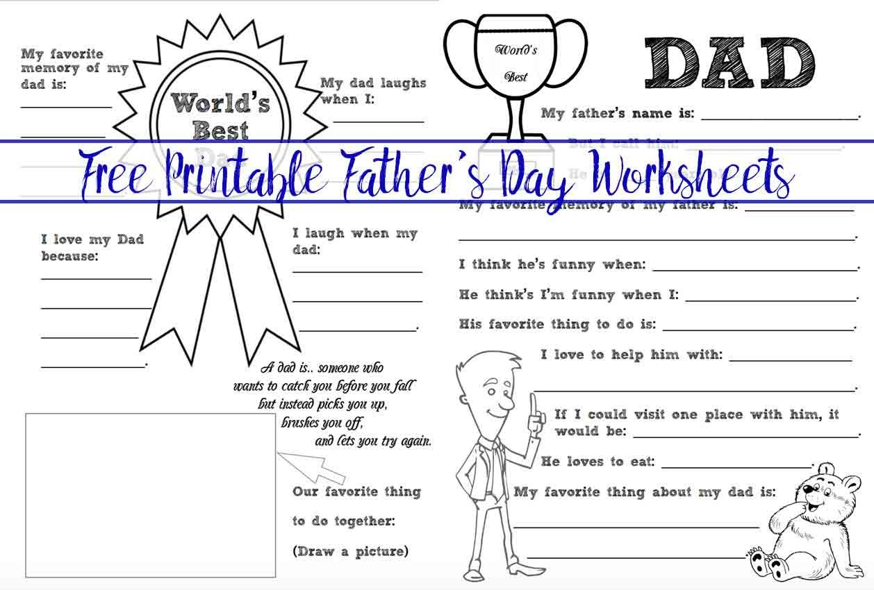Memorial Day Worksheets Free Printable Free Printable Father S Day Coloring Worksheets 2 Designs