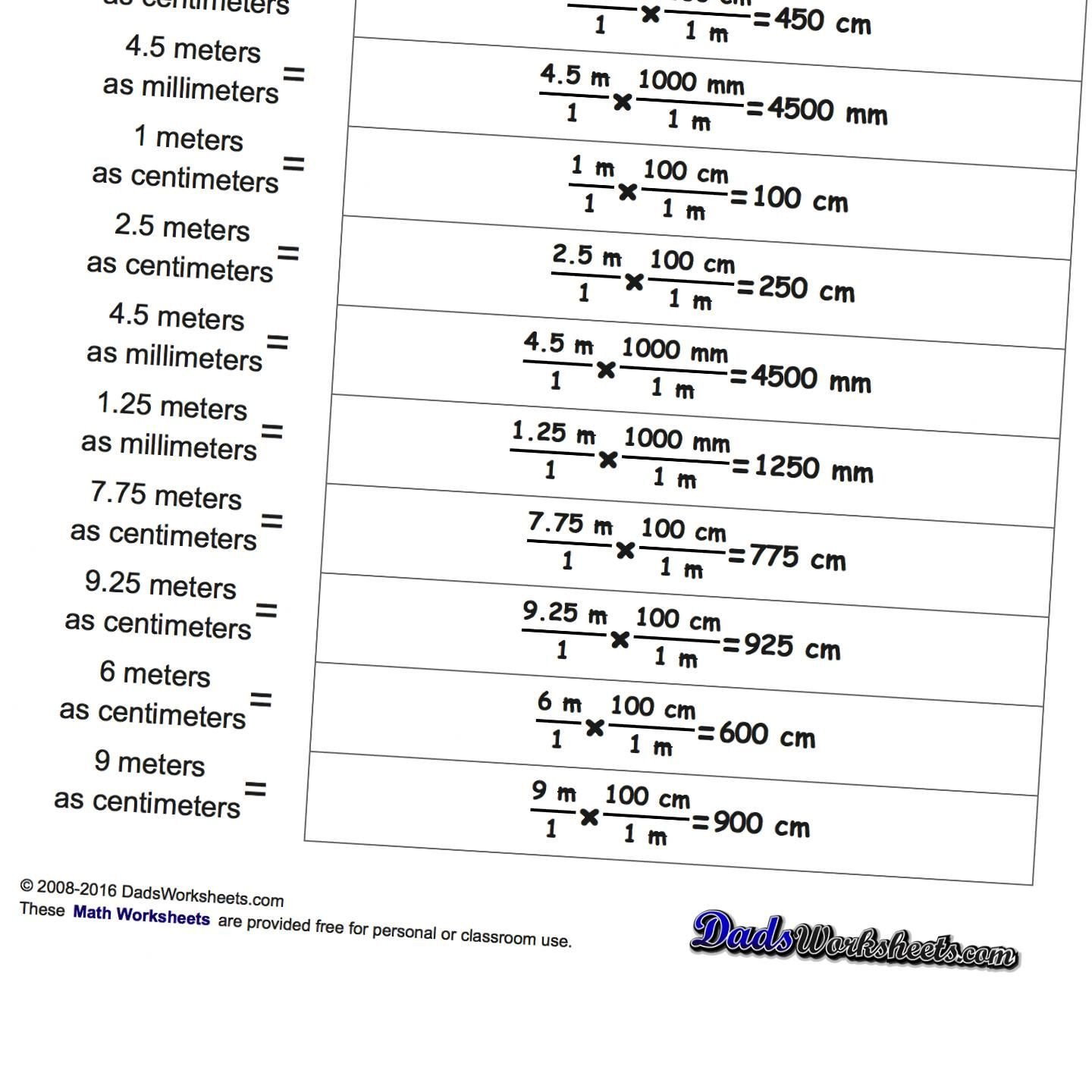 Metric and Customary Conversions Worksheets Unit Conversion Worksheet Physics