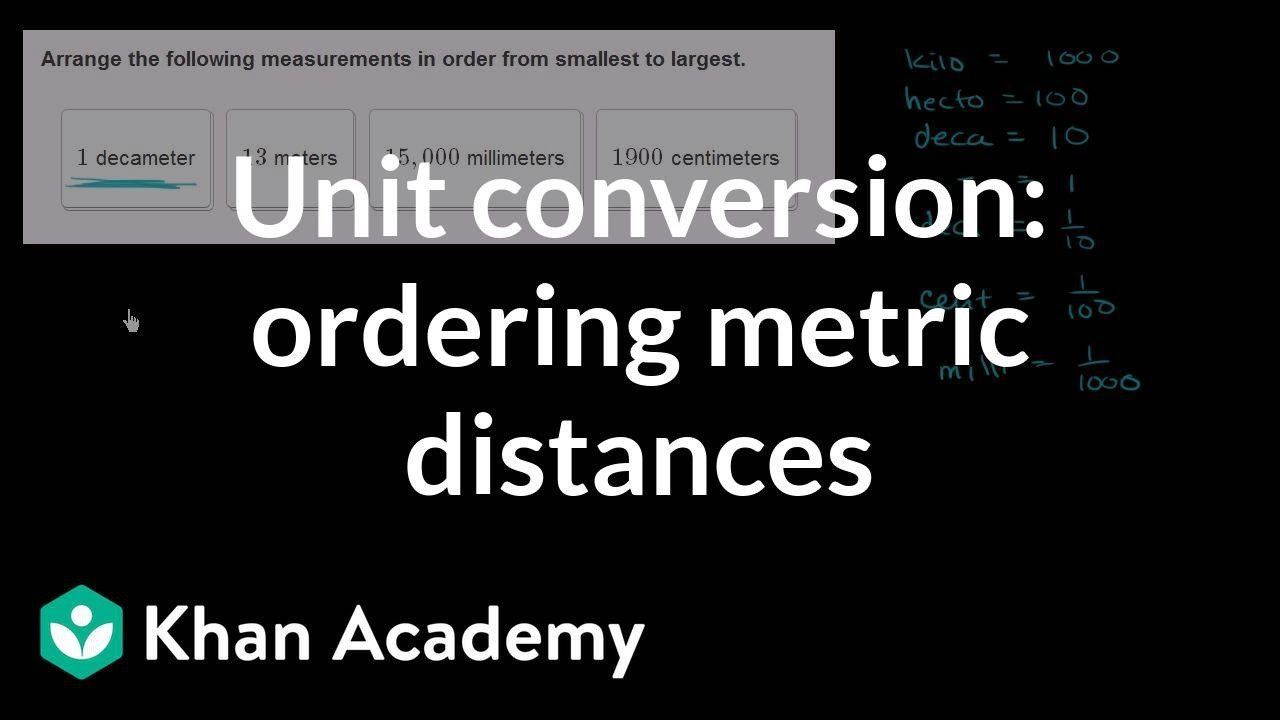 Metric Conversion Worksheets 5th Grade Metric Unit Conversions Distance Video