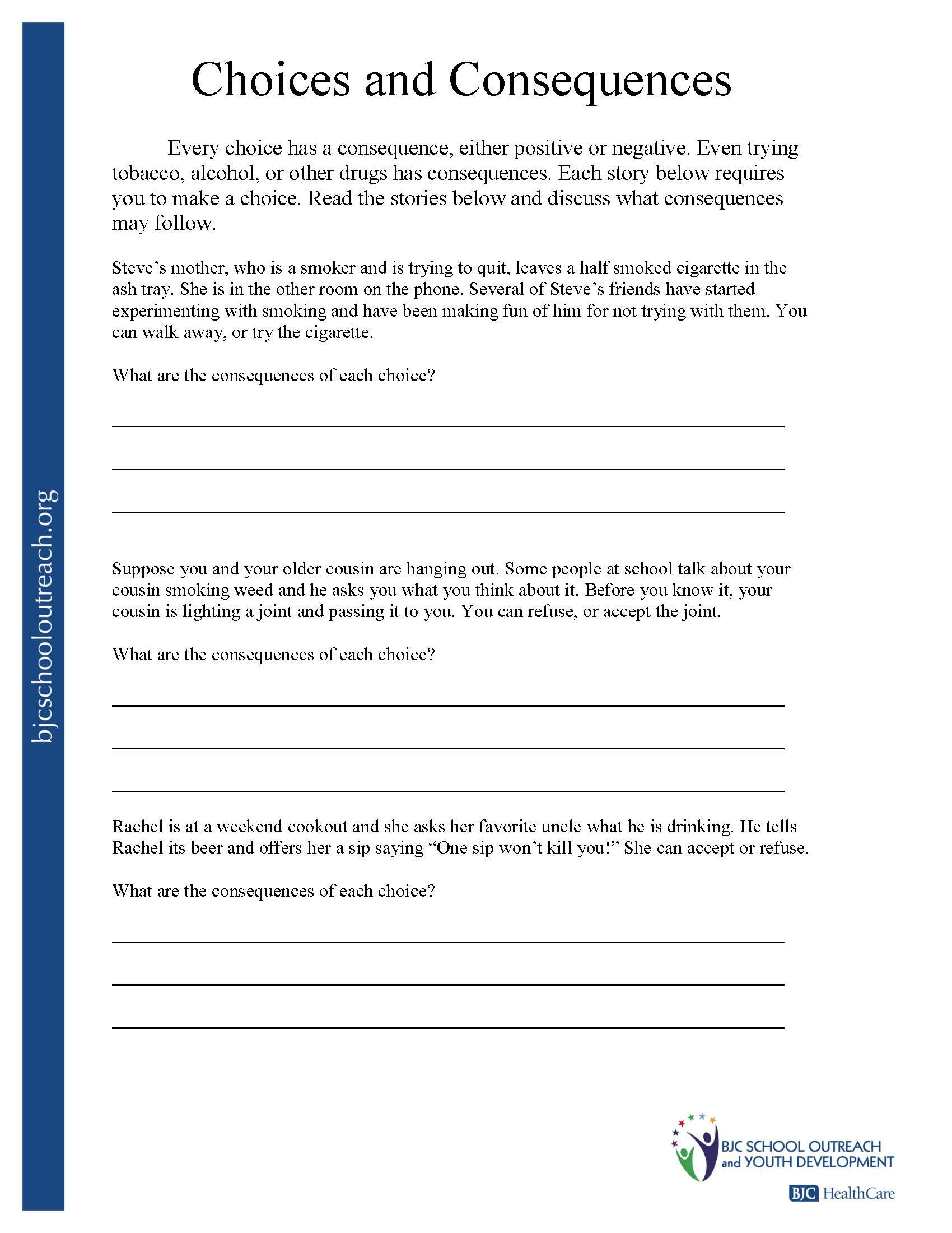 Middle School Health Worksheets Pdf Printable Worksheets