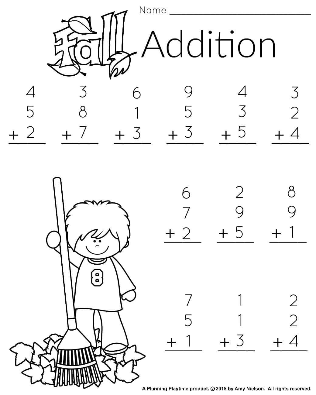 Minute Math Worksheets 1st Grade 1st Grade Math and Literacy Worksheets with A Freebie