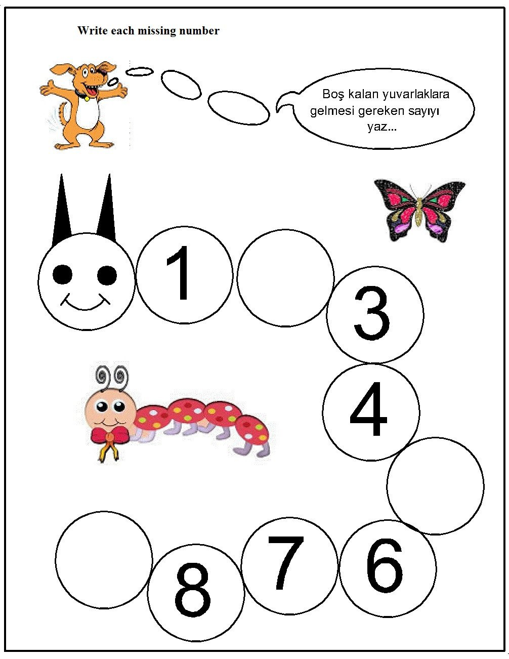 Missing Number Worksheet for Kindergarten Missing Number Worksheet for Kids 5