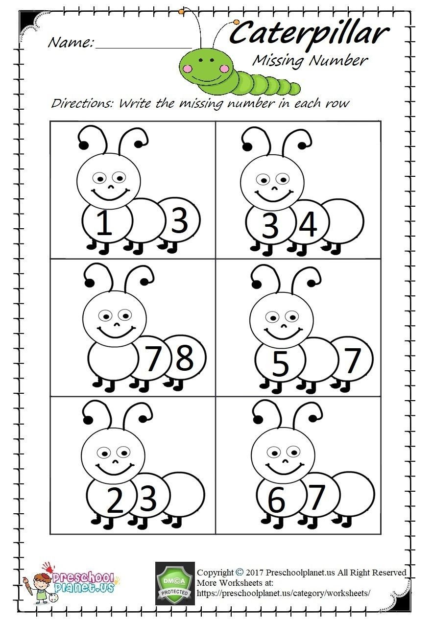 Missing Number Worksheet for Kindergarten Missing Number Worksheet Pdf