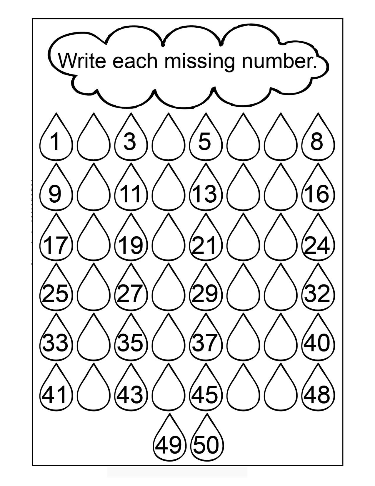 Missing Number Worksheet for Kindergarten Worksheets Missing Numbers Worksheet Printable Worksheets