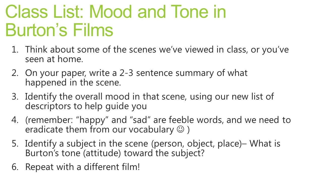 Mood and tone Practice Worksheets Lesson 17 Mood tone Cqc Practice Ppt Video Online