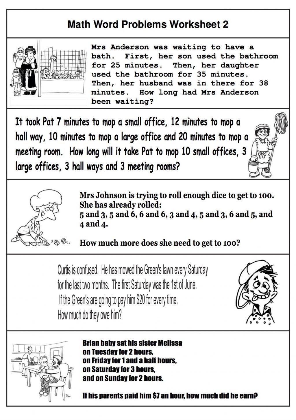 Multiple Step Word Problem Worksheets 2nd Grade Math Word Problems Best Coloring Pages for Kids