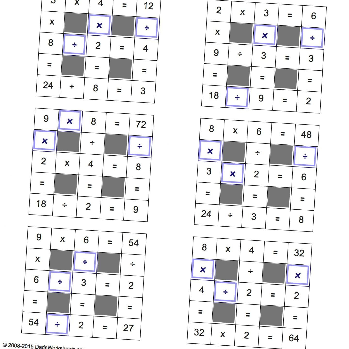 Number Grid Puzzles Worksheets Math Grid Puzzles