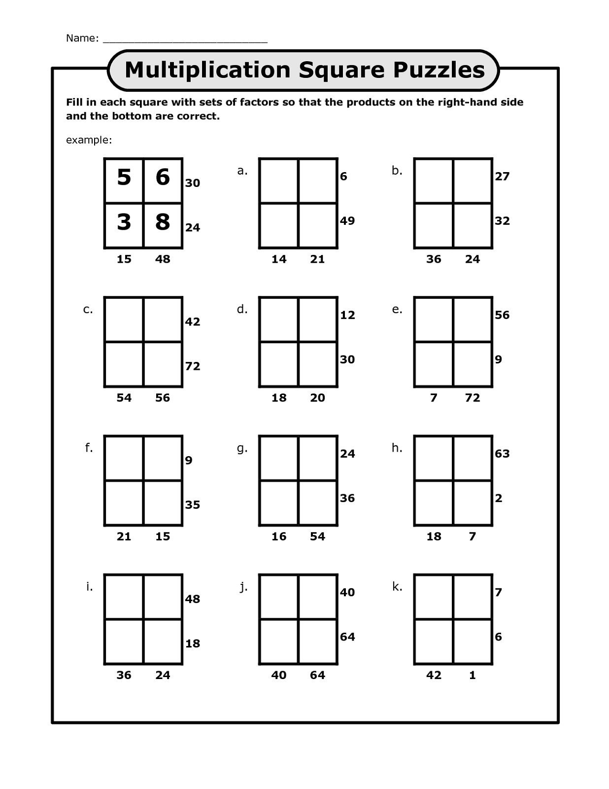 Number Grid Puzzles Worksheets Math Worksheet Math Grid Puzzles Boost Your Child Skills