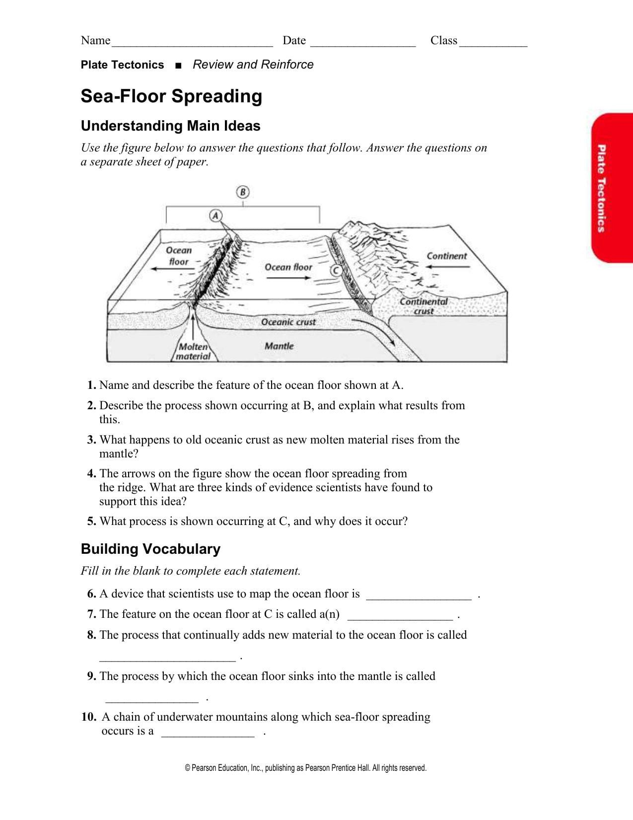 Ocean Floor Worksheets 5th Grade Sea Floor Worksheet