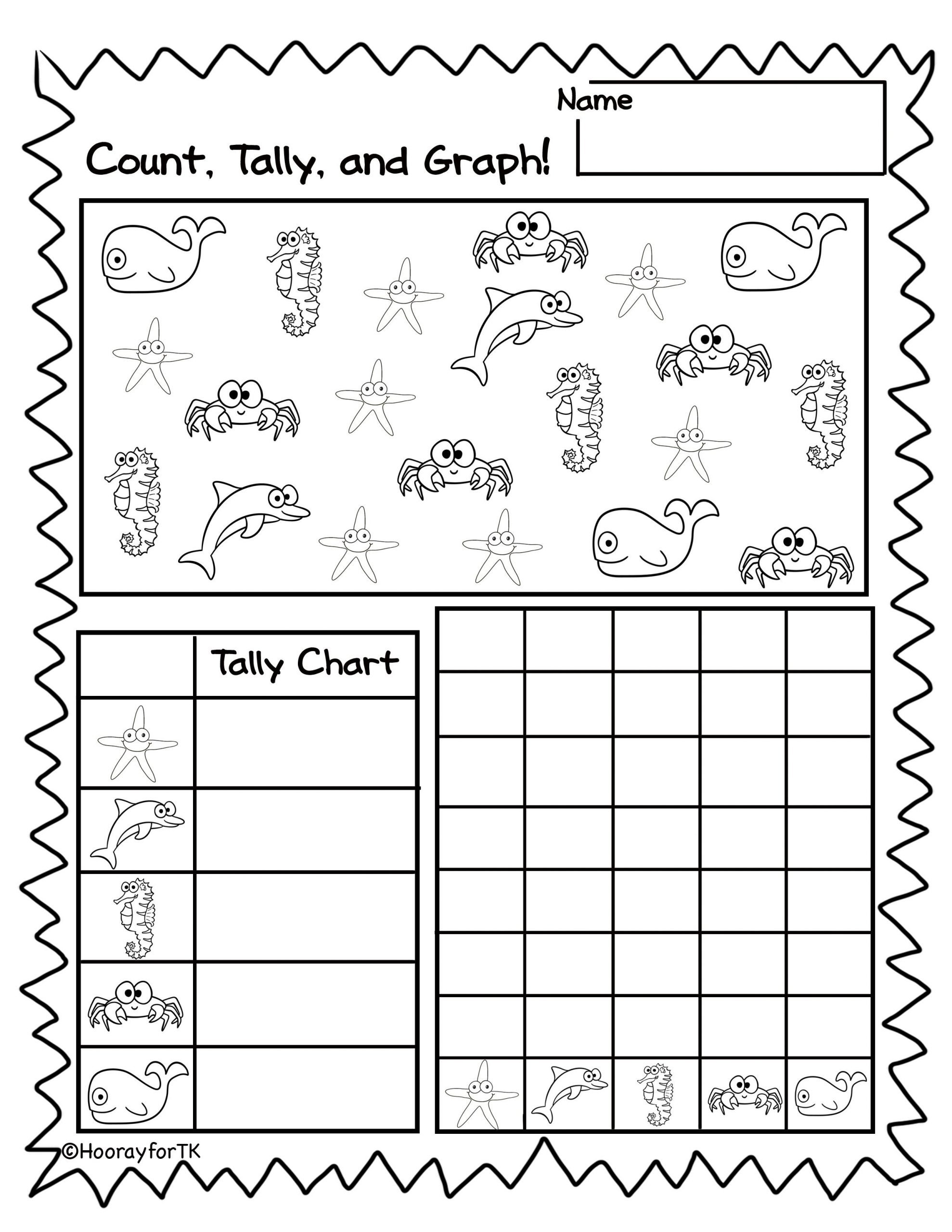 printable under the sea math activities transitional