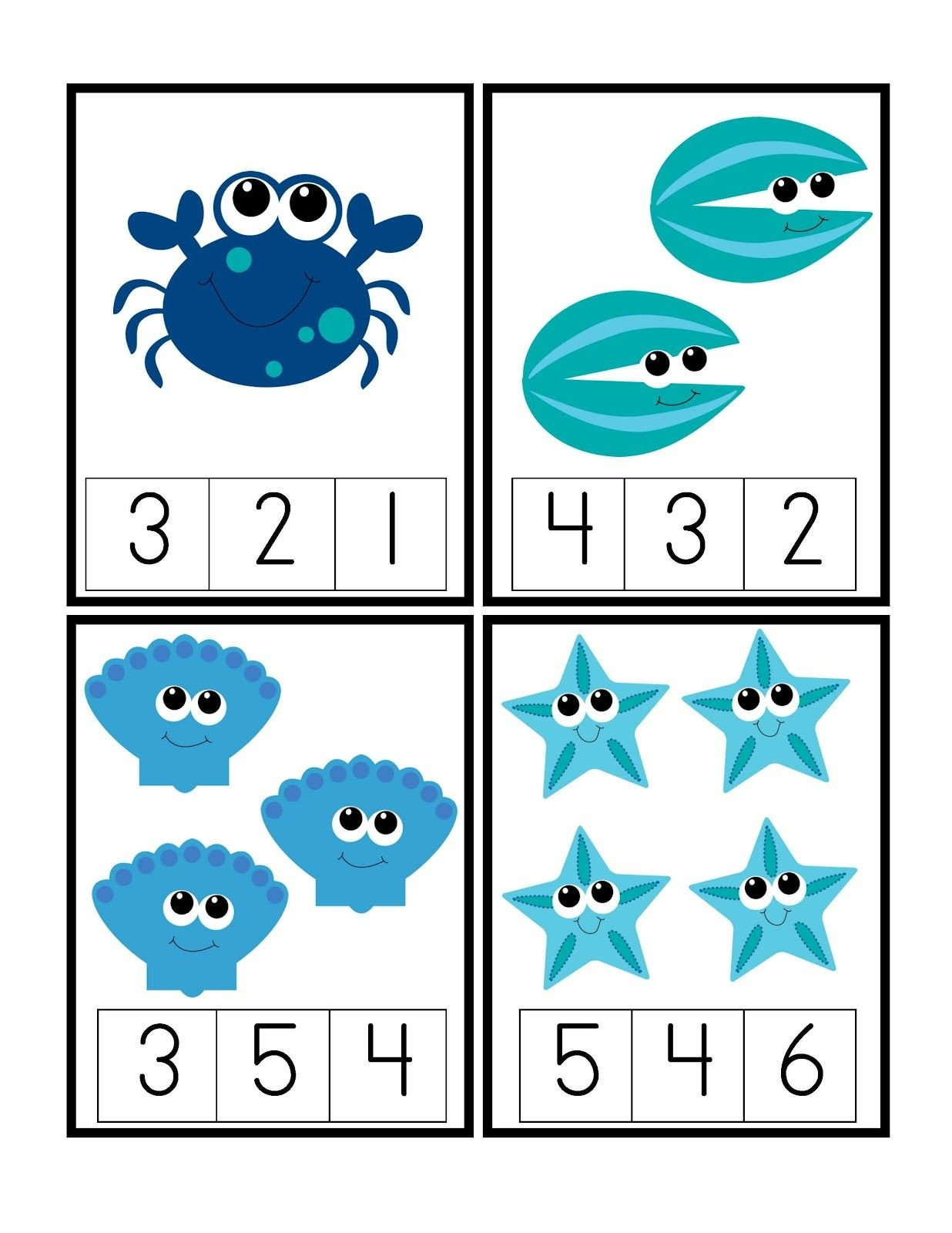 Oceans Worksheets for Kindergarten Pin by Krista Langford On Counting Numbers