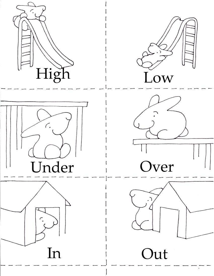 Opposites Preschool Worksheets 3 In 1 Printables