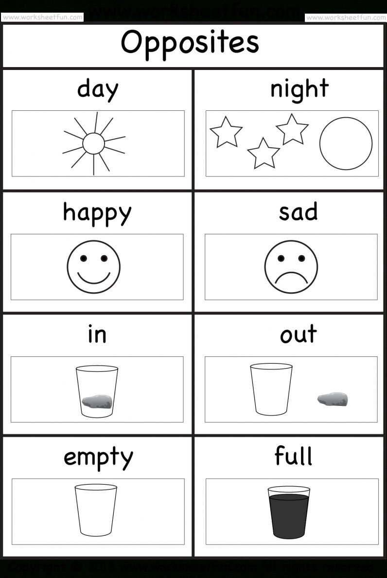 Opposites Preschool Worksheets 9 Opposite Worksheet for Preschool Preschool