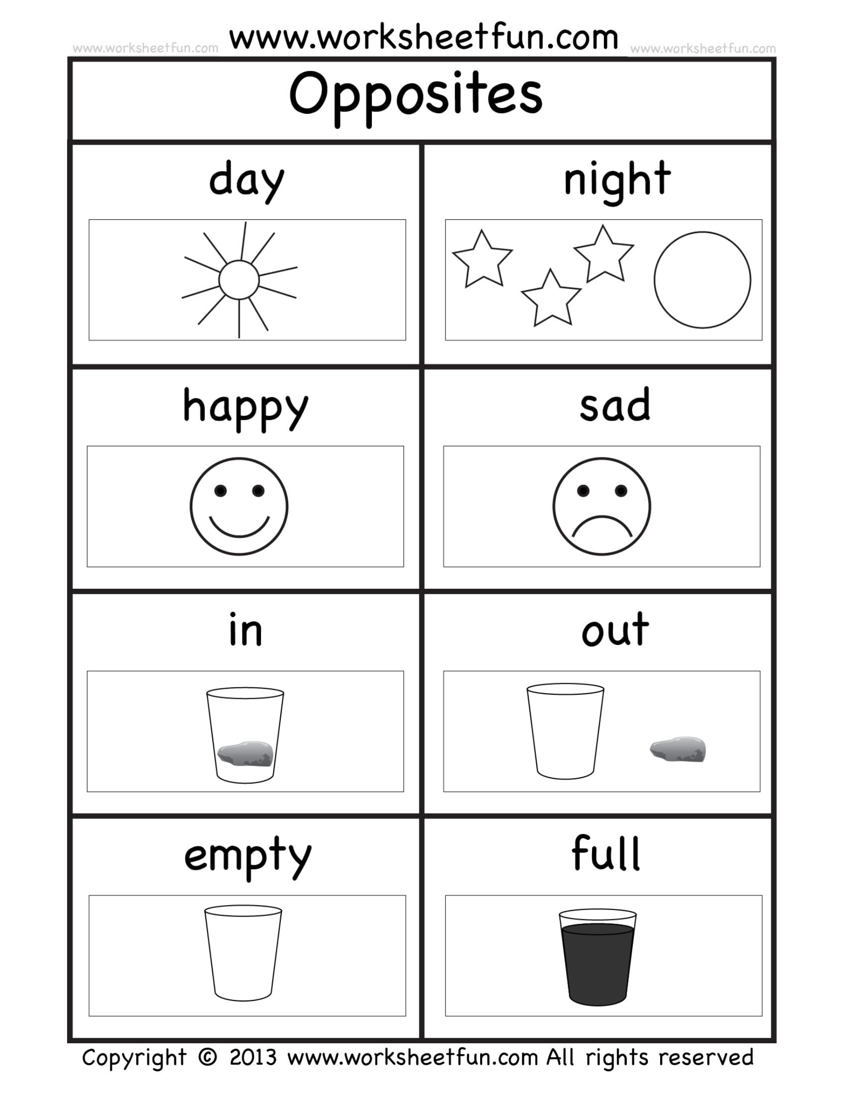 worksheet kindergarten examples pdf sheet image inspirations opposites exercise sample for sequencing