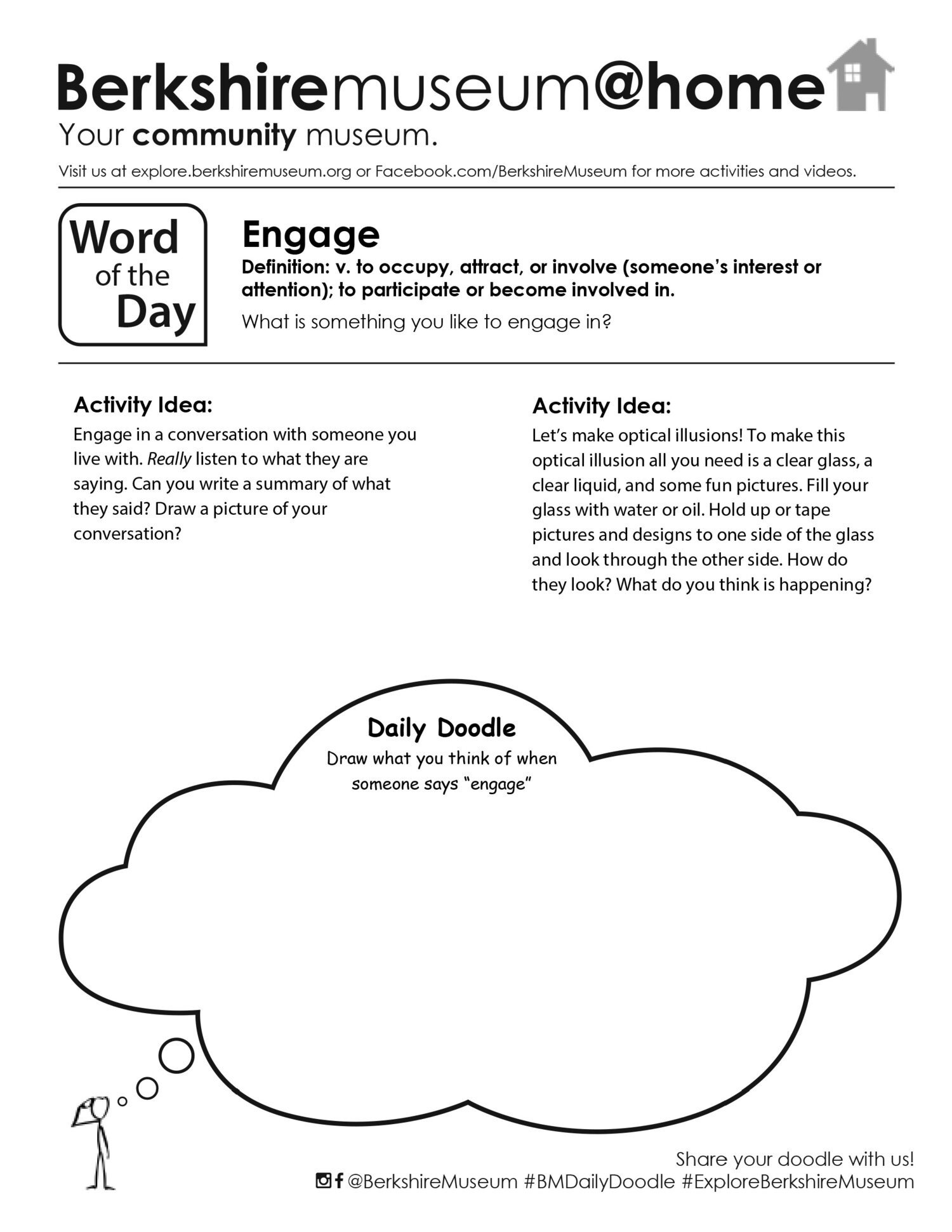 Optical Illusion Worksheets Engage Word Of the Day Activity