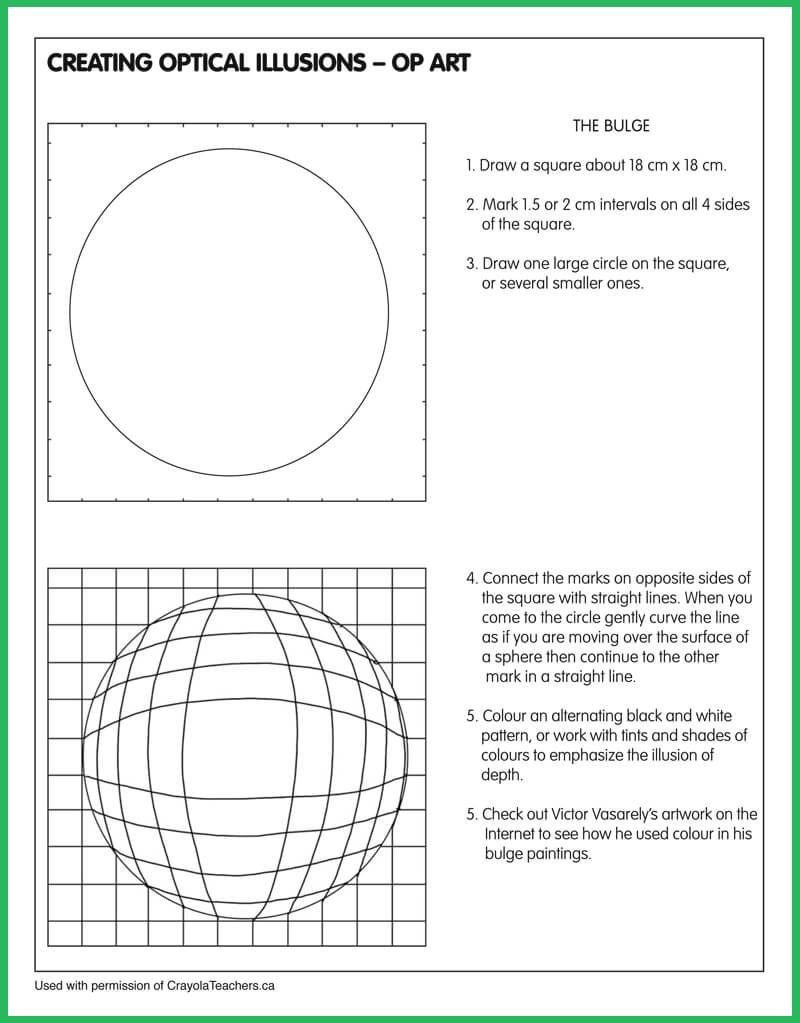 Optical Illusion Worksheets Pin On Class