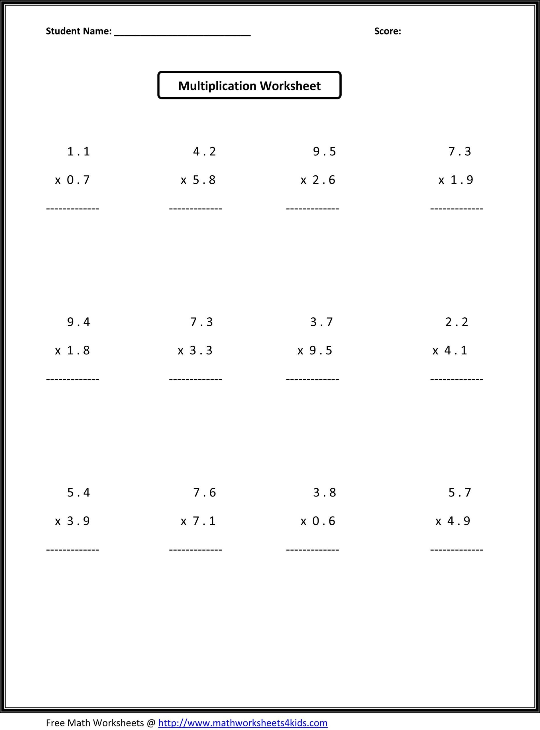 Ordering Decimals Worksheet 5th Grade Worksheets for Grade Printable and Activities 7th Math