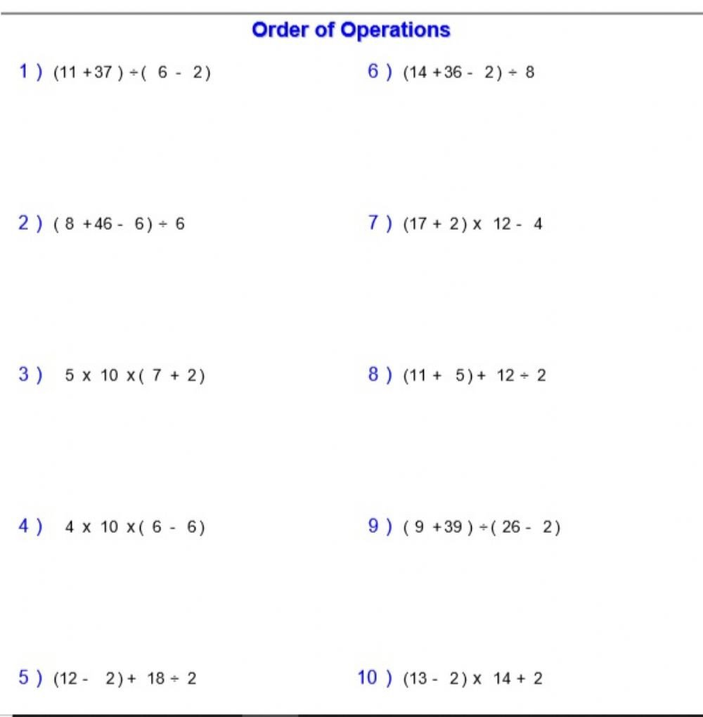 Pemdas Practice Worksheets order Of Operations 2 Mdas with Parentheses Interactive