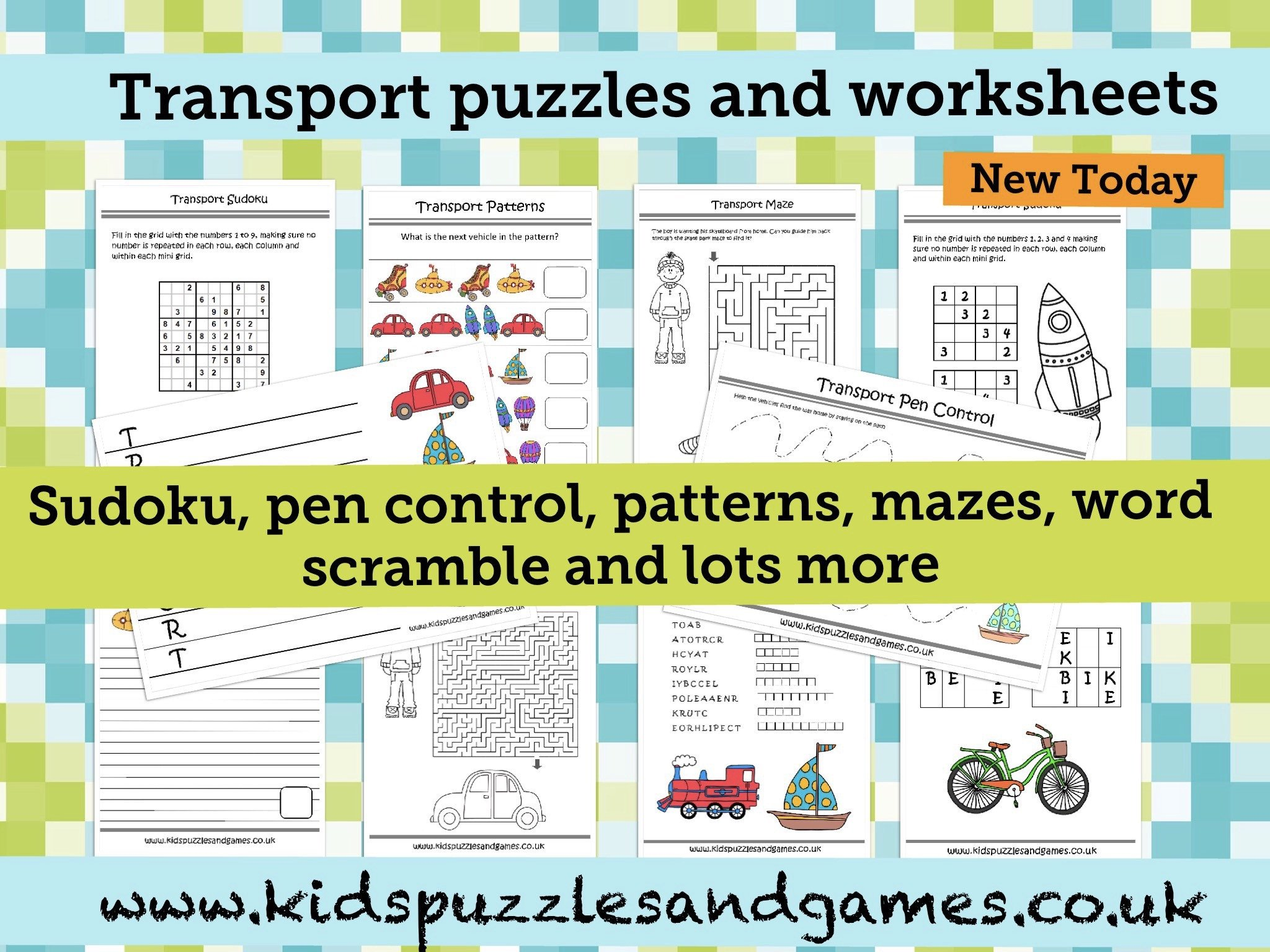 Pen Control Worksheets All New Transport Puzzles and Worksheets Kids Puzzles and