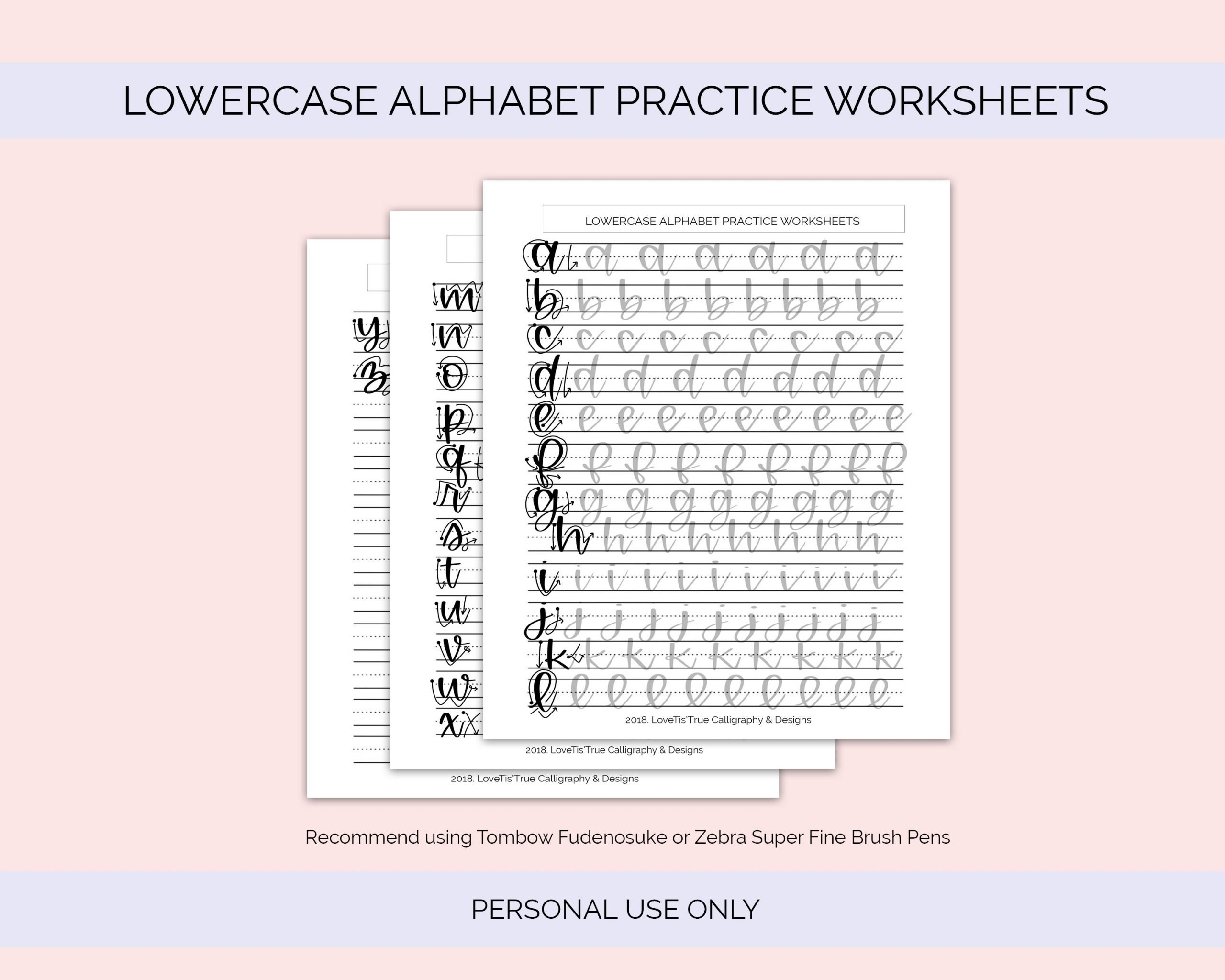 Pen Control Worksheets Free Lowercase Alphabet Practice Worksheets – Lovetistrue