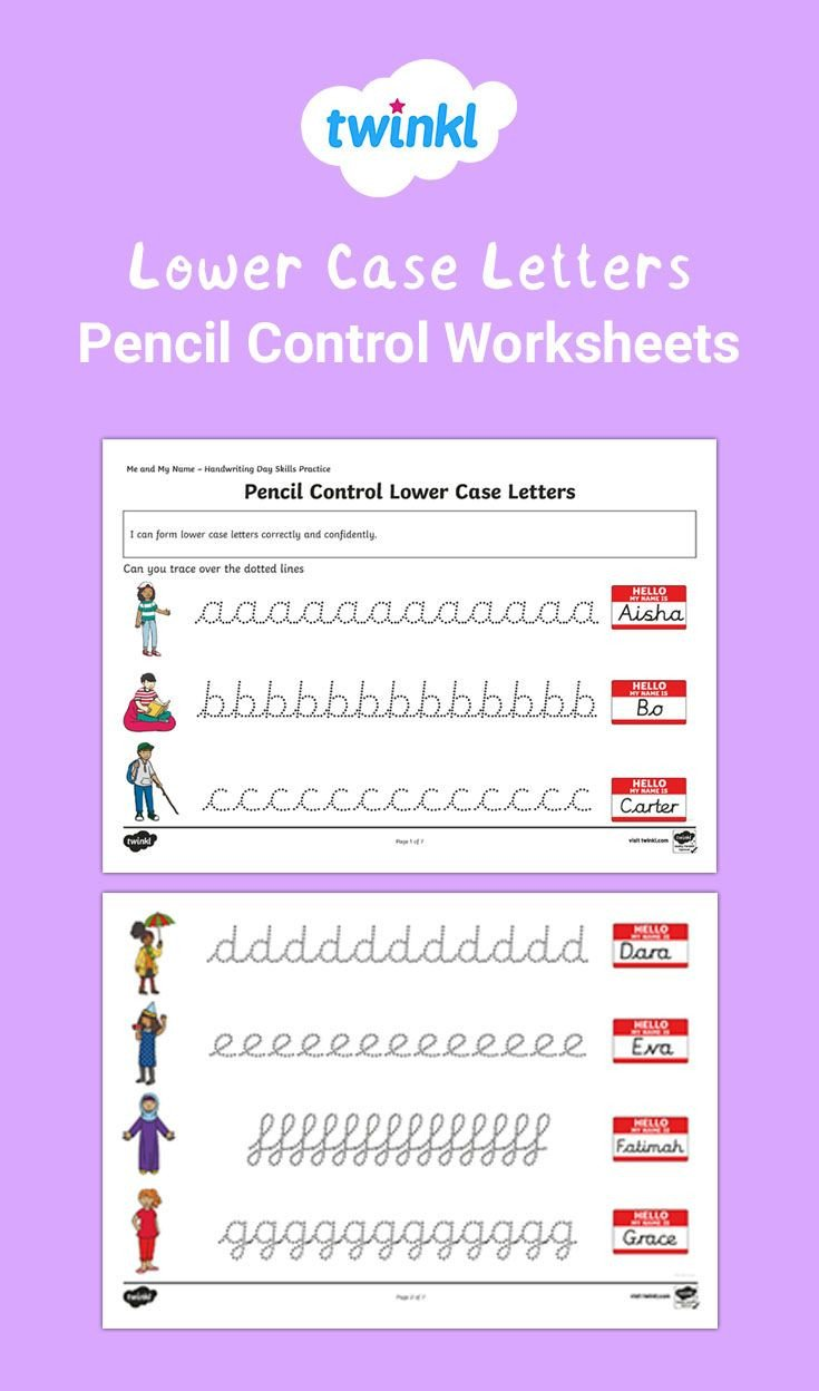 Pen Control Worksheets Handwriting Practice Try Using these Pencil Control