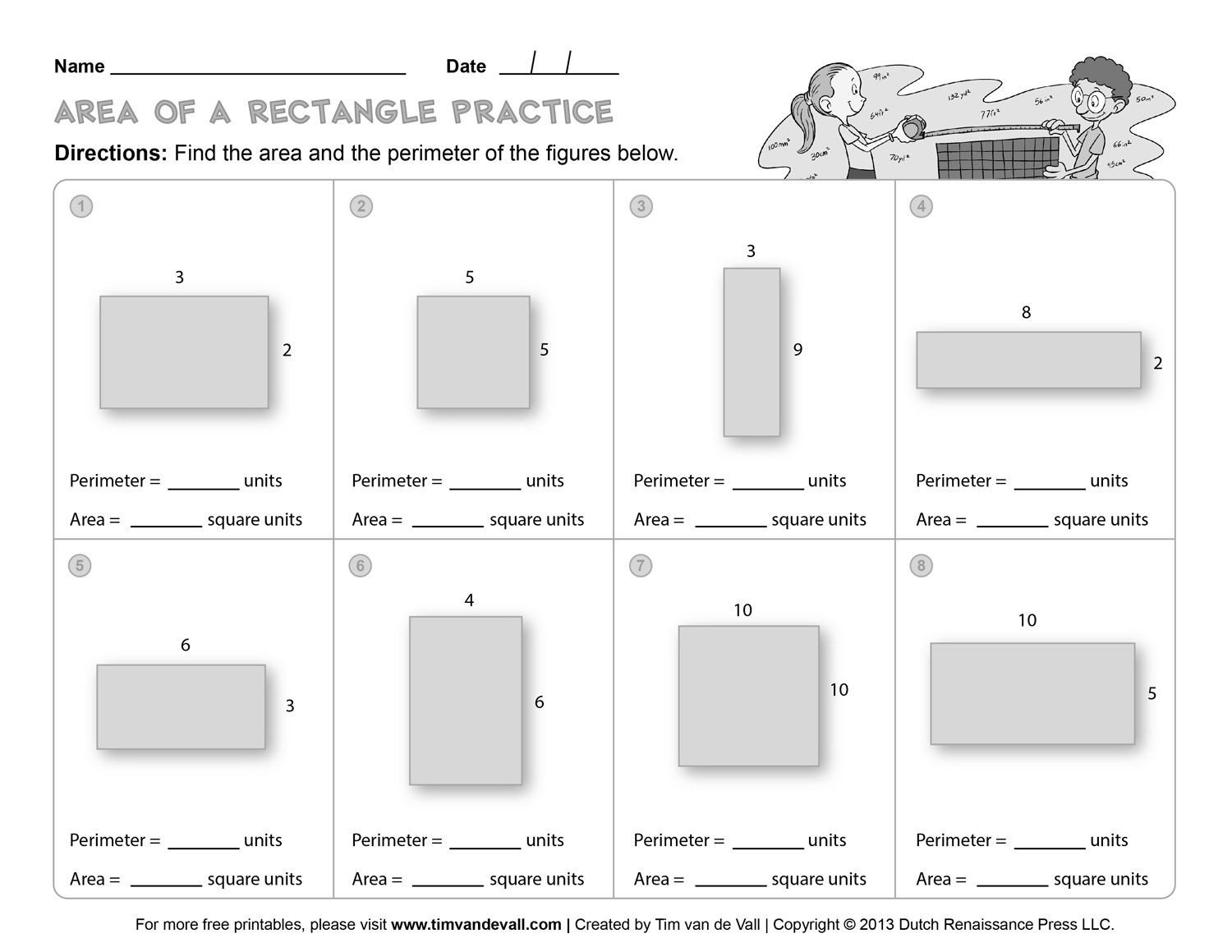 3rd grade perimeter and area worksheets free library ks2