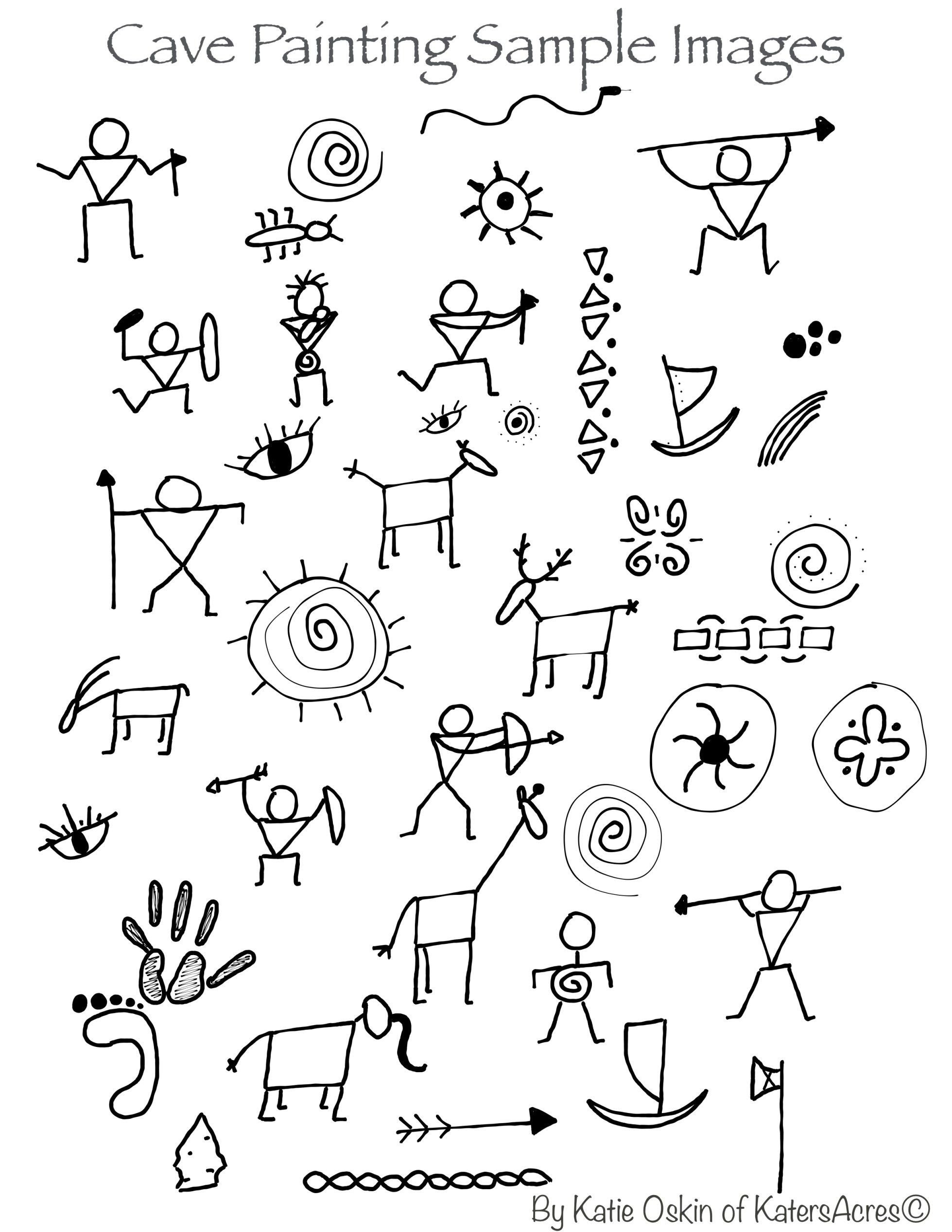 Pictograph Worksheets 2nd Grade Cave Paintings Background Tutorial Age Art Pictograph